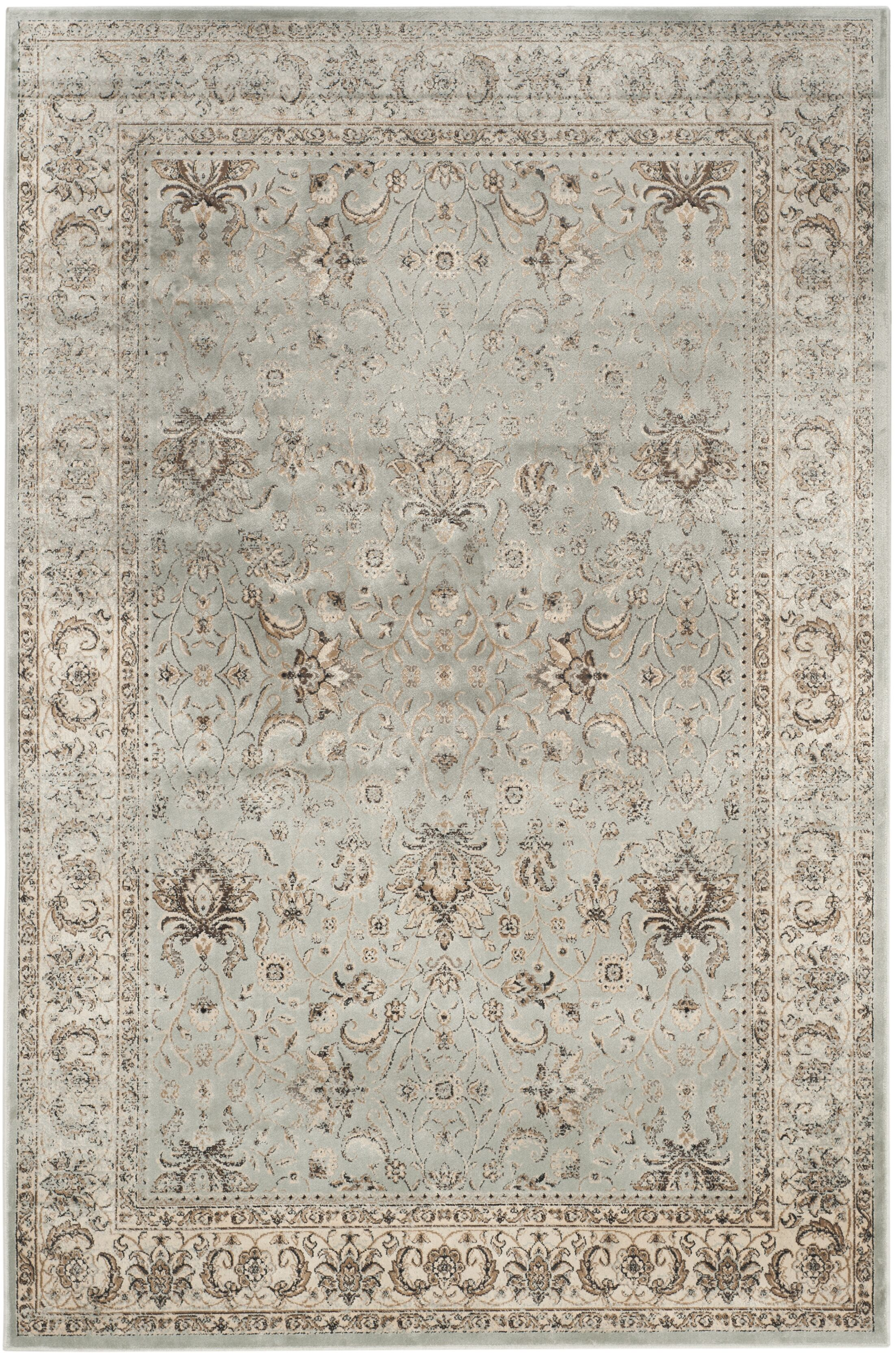 Jules Beige/Gray Area Rug Rug Size: Rectangle 5'3
