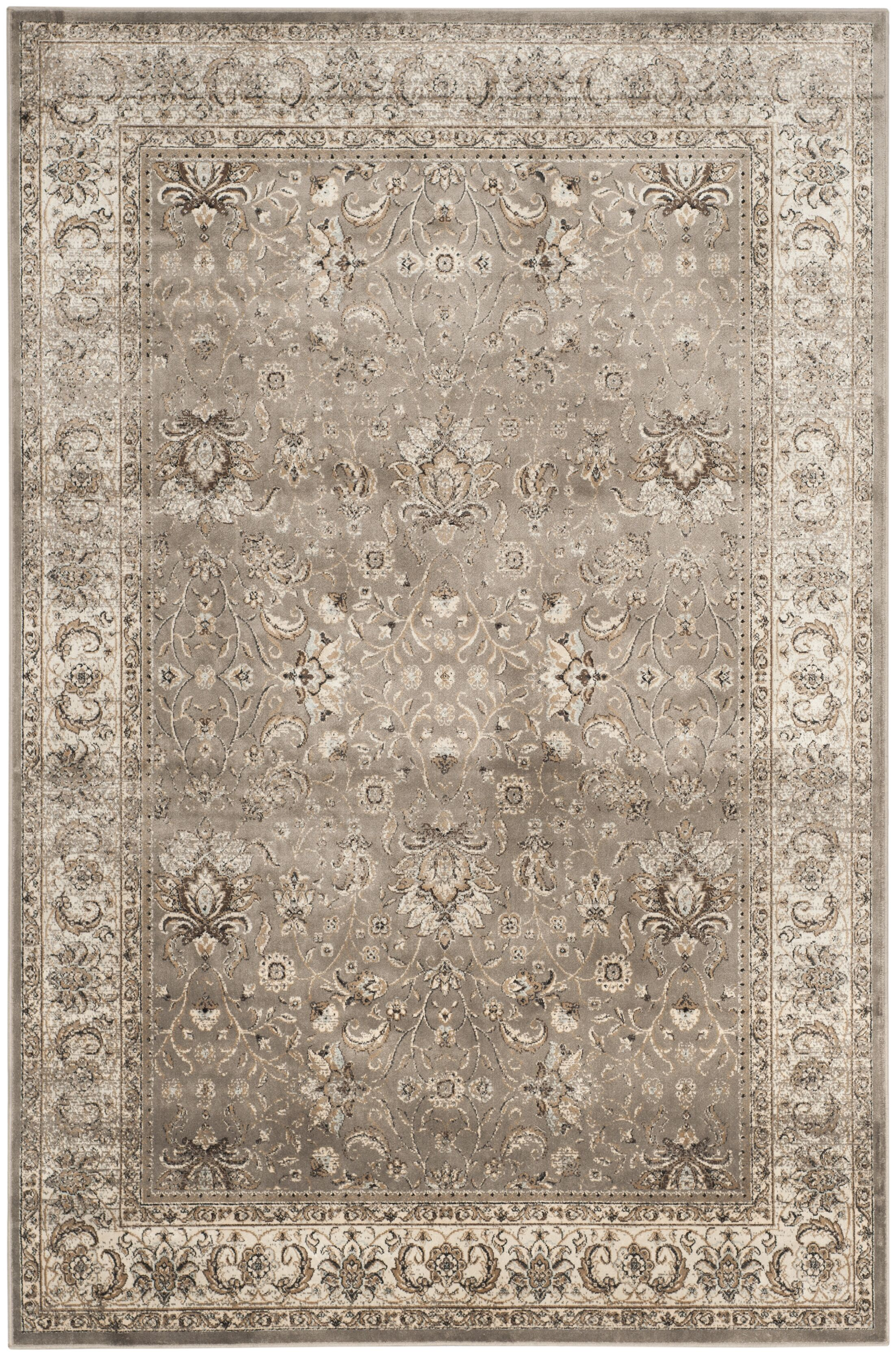 Jules Beige/Gray Area Rug Rug Size: Rectangle 8' x 11'