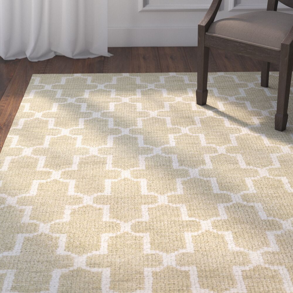 Morton Hand-Knotted Camel Area Rug Rug Size: Rectangle 9'6