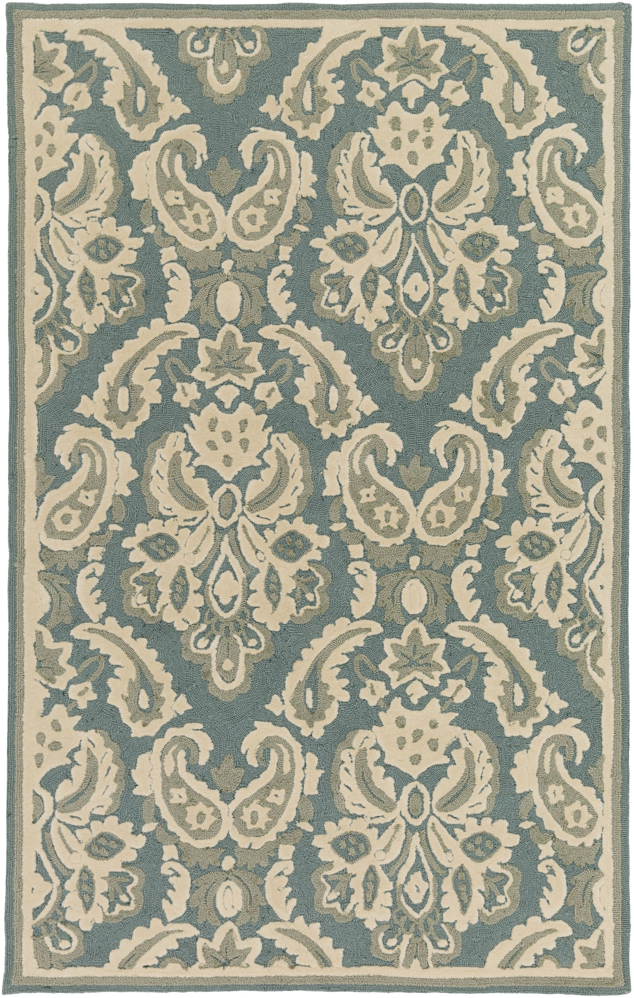 Bellville Ivory Hand-Hooked Indoor/Outdoor Area Rug Rug Size: Rectangle 5' x 7'6