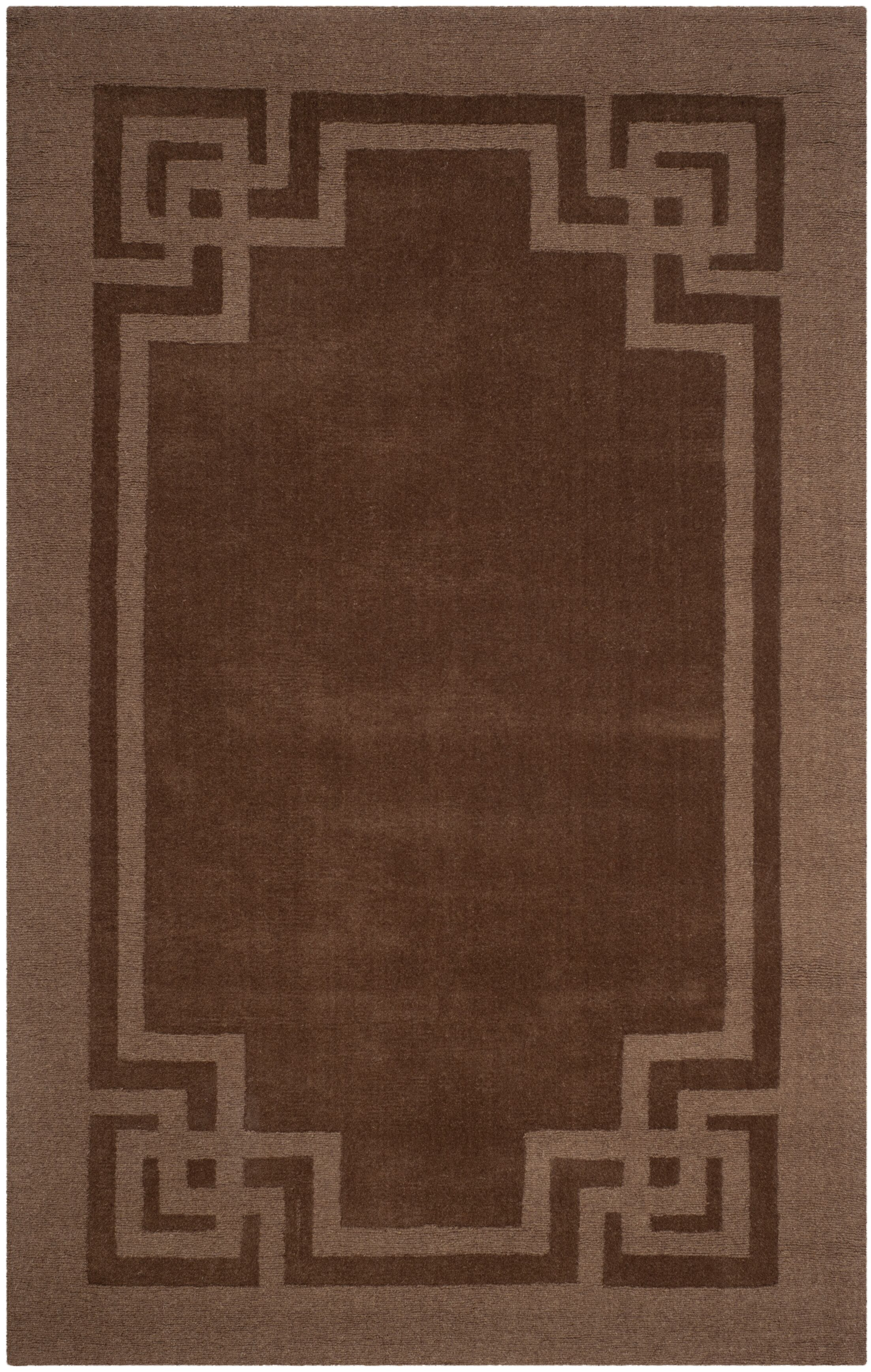 Deco Frame Hand-Woven Bay Colt Area Rug Rug Size: Rectangle 8' X 10'