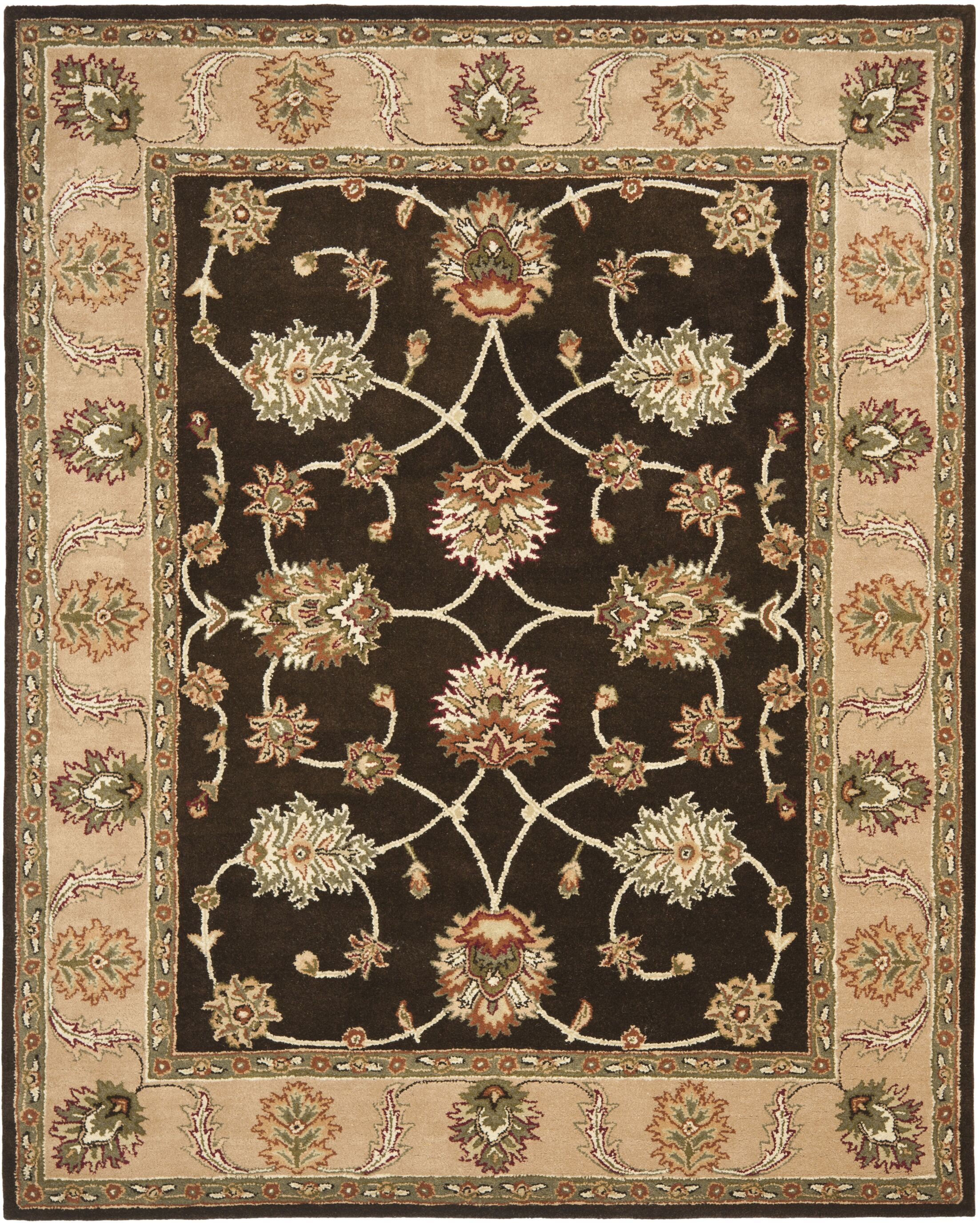 Cardwell Hand-Tufted Beige/Black Area Rug