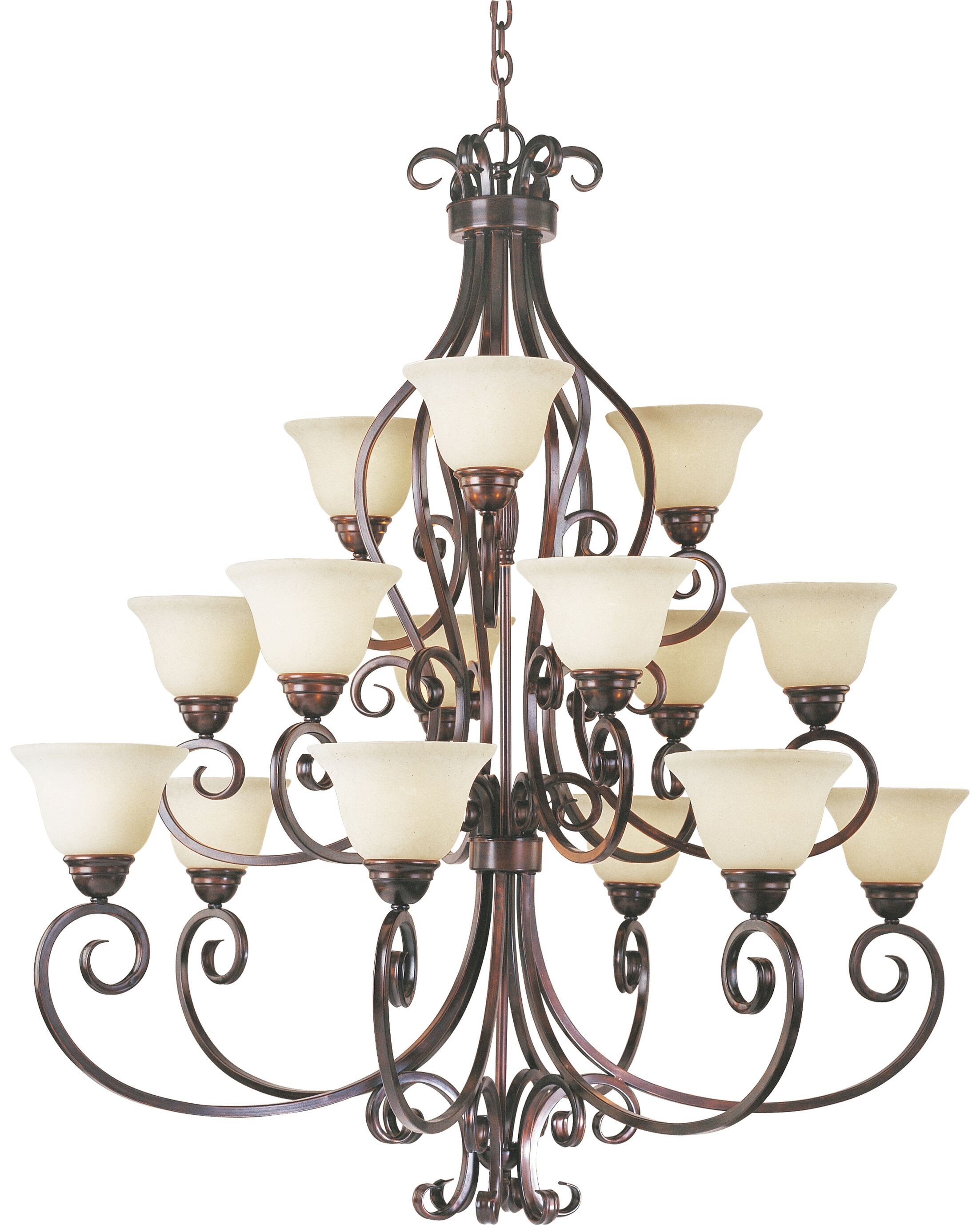 Amelia 15-Light Shaded Chandelier Finish: Oil Rubbed Bronze