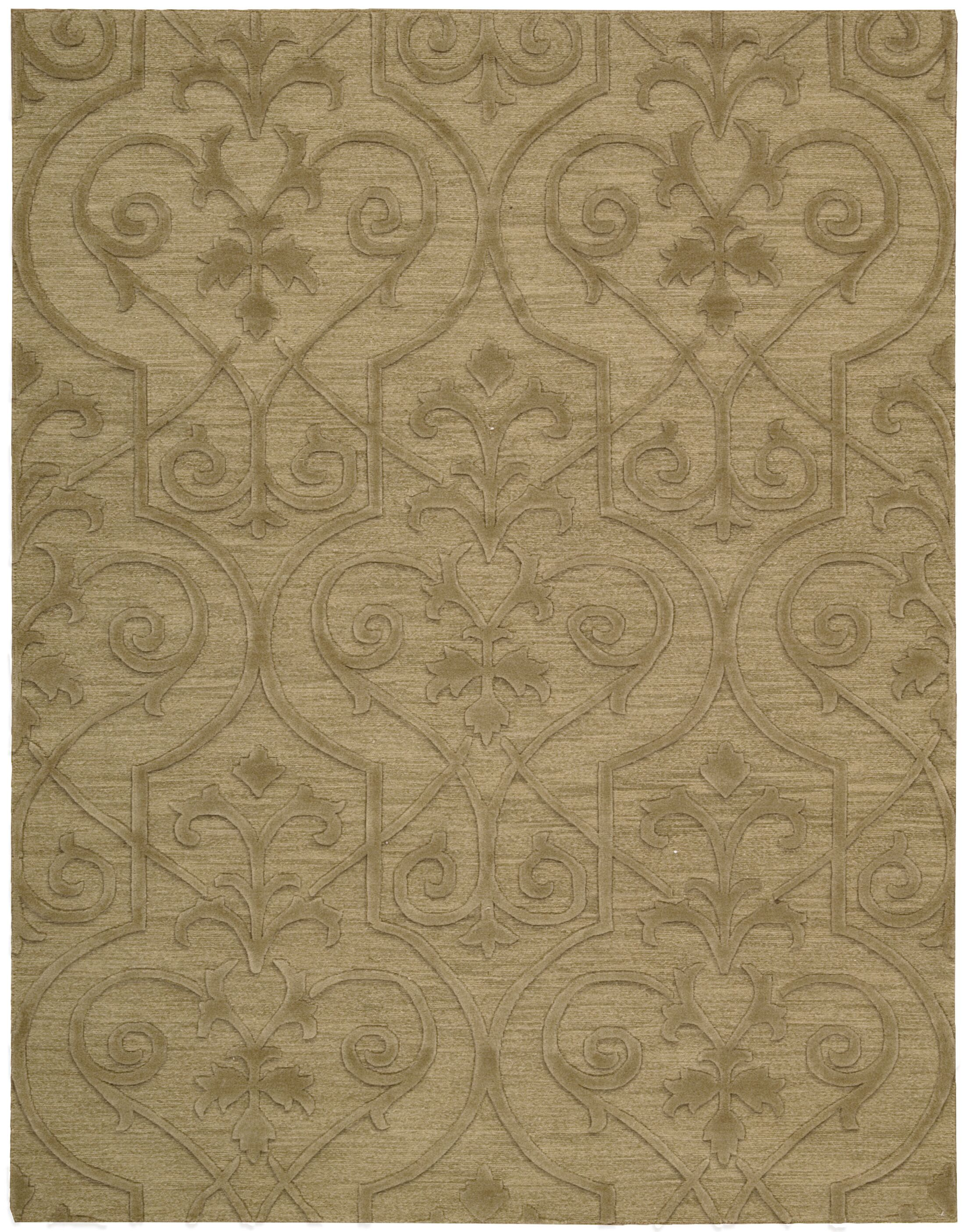 Cedarwood Hand-Woven Khaki Area Rug Rug Size: Rectangle 5'6