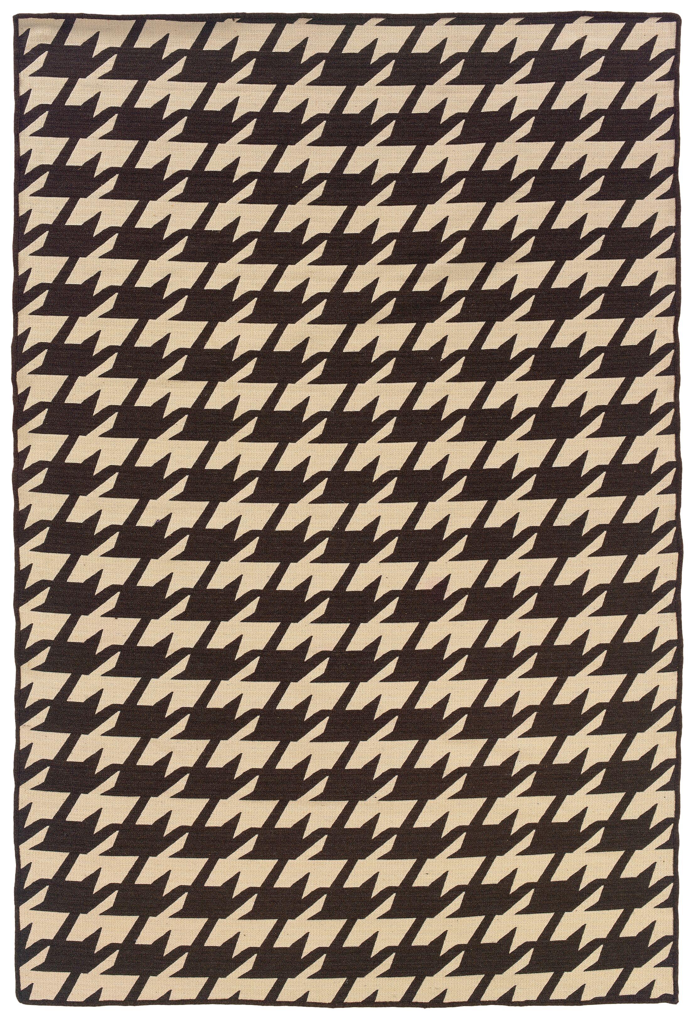 Destinee Hand-Tufted Brown/Beige Area Rug Rug Size: 5' x 8'