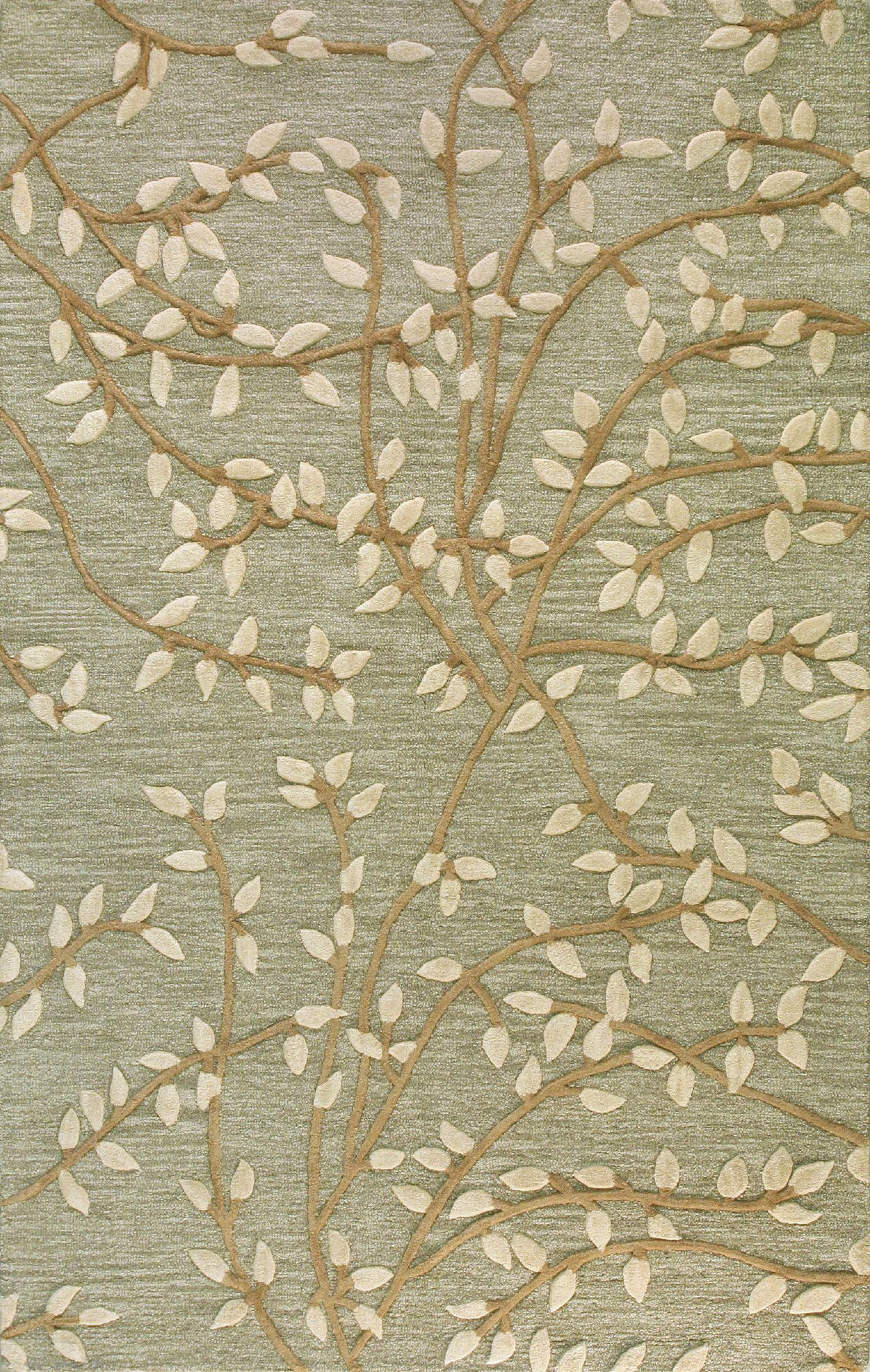 Richford Hand-Tufted Green Area Rug Rug Size: Rectangle 8'6