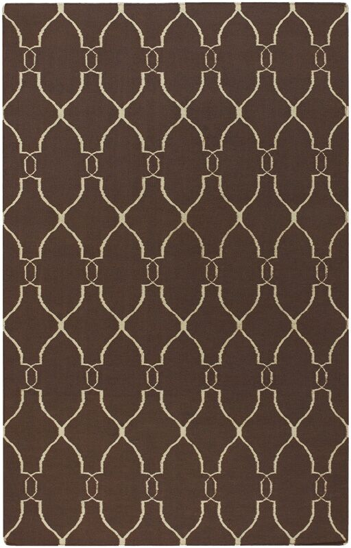 Findley Brown/Ivory Area Rug Rug Size: Rectangle 8' x 11'