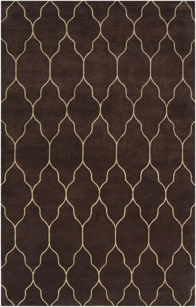Moreton Chocolate/Ivory Geometric Area Rug Rug Size: Rectangle 8' x 11'