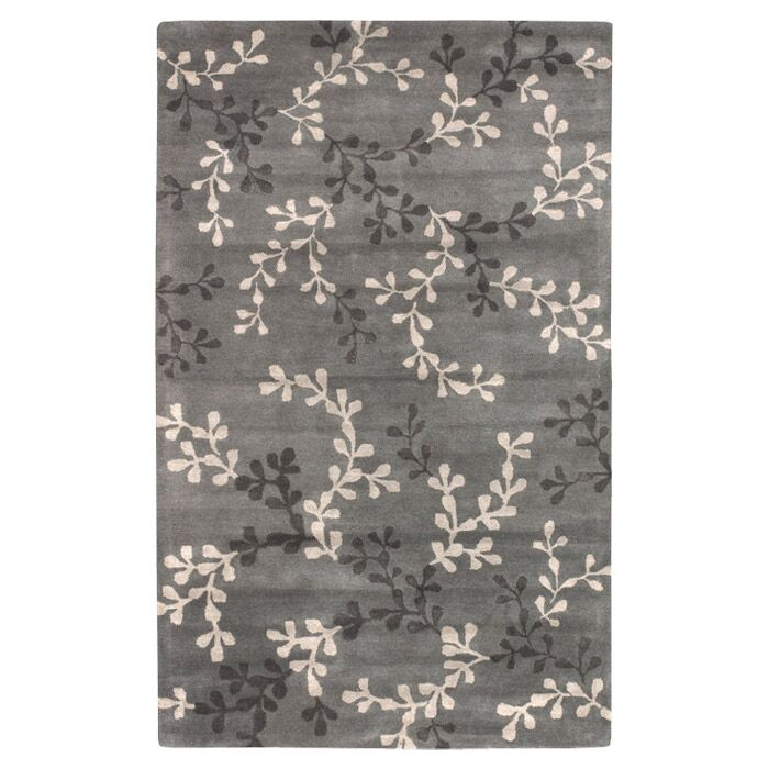 Fulkerson Vine Charcoal Gray Area Rug Rug Size: Rectangle 9' x 13'