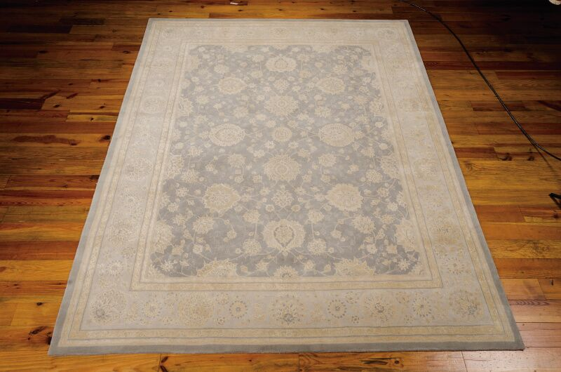 Morristown Hand Woven Wool Gray/Ivory Indoor Area Rug Rug Size: Rectangle 3'9