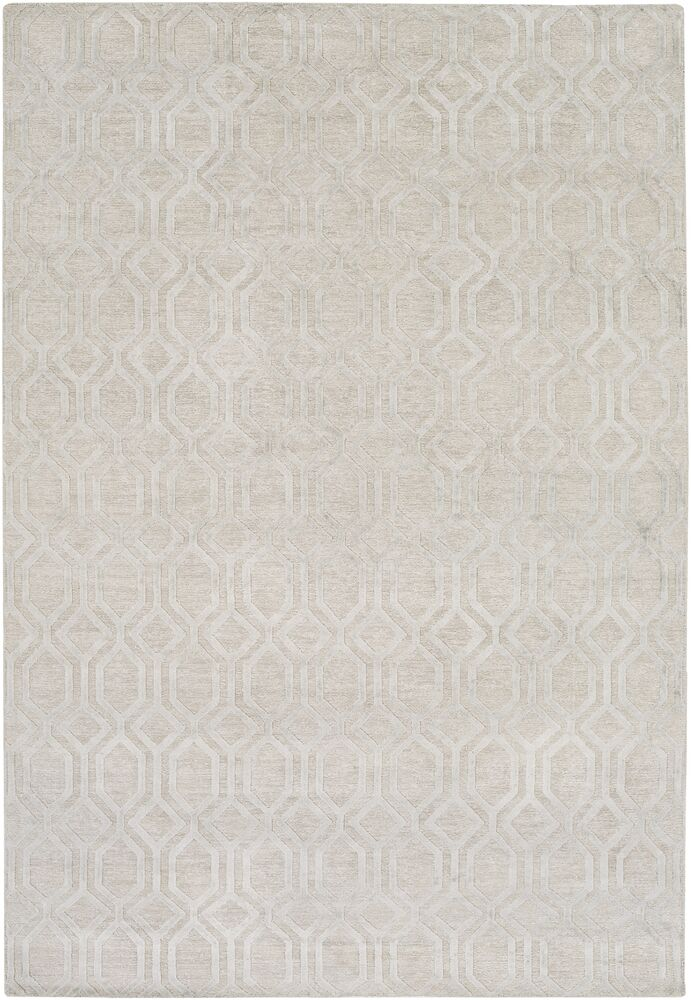 Barrville Hand-Knotted Light Gray Area Rug Rug Size: Rectangle 2' x 3'