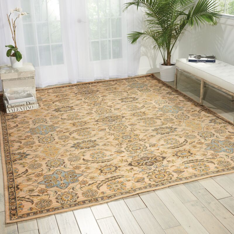 Gaunt Beige Area Rug Rug Size: Rectangle 12' x 15'