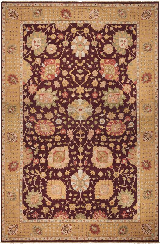 Leavittsburg Hand-Woven Burgundy Area Rug Rug Size: Rectangle 12' x 18'