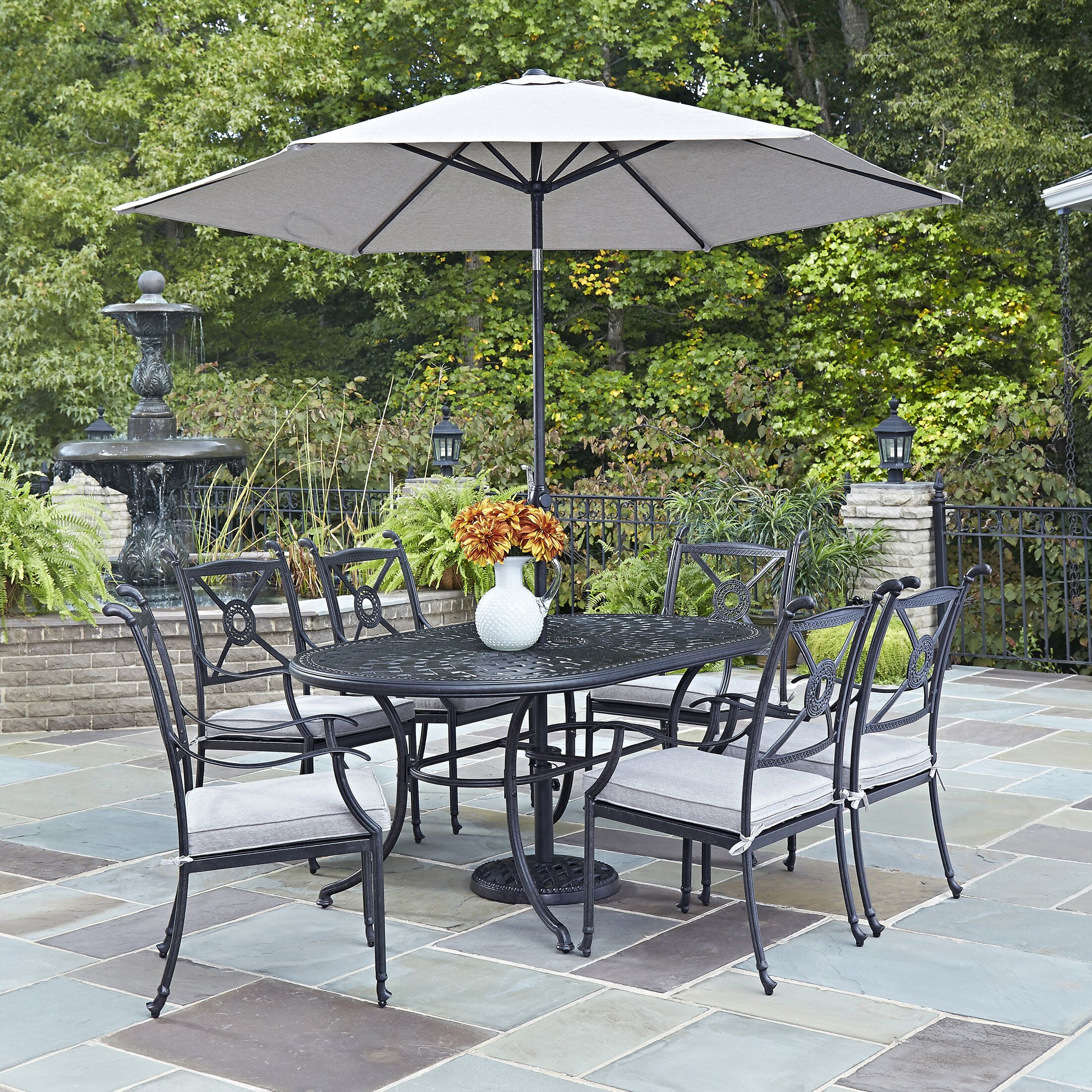 Lansdale 9 Piece Dining Set with Cushions