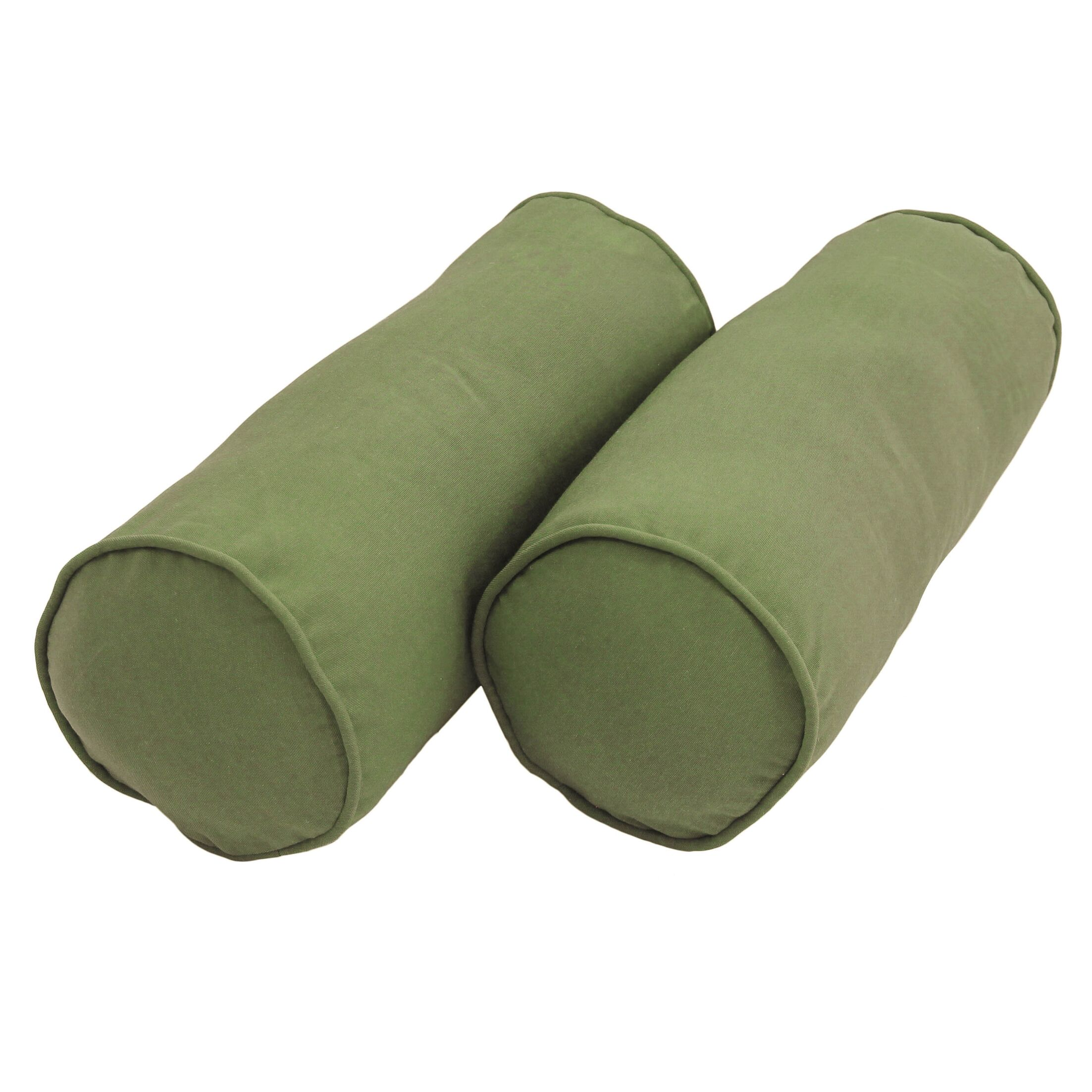 Mchaney Solid Twill Bolster Pillow Color: Sage