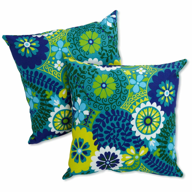 Dewald Outdoor Throw Pillow Color: Luxury Azure