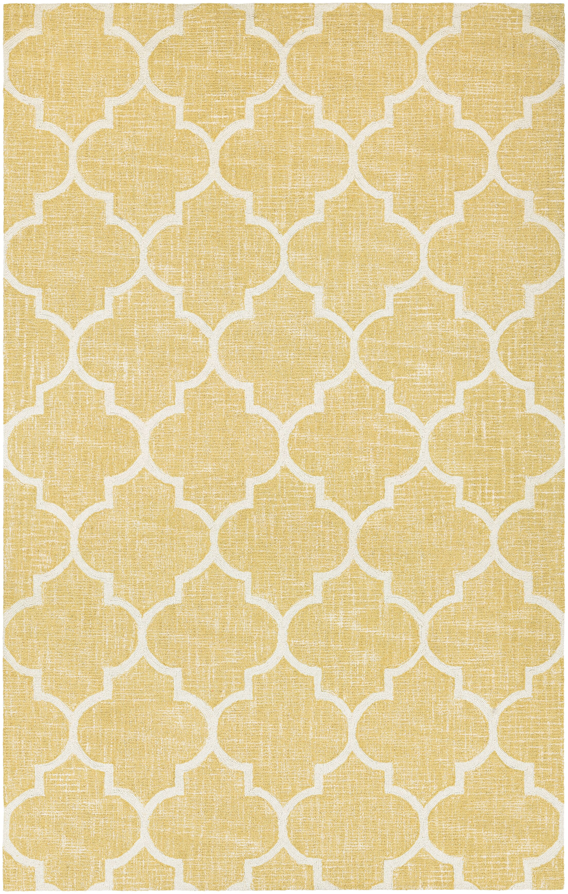 Lissette Hand-Woven Gold/Ivory Area Rug Rug Size: Rectangle 7' x 10'7