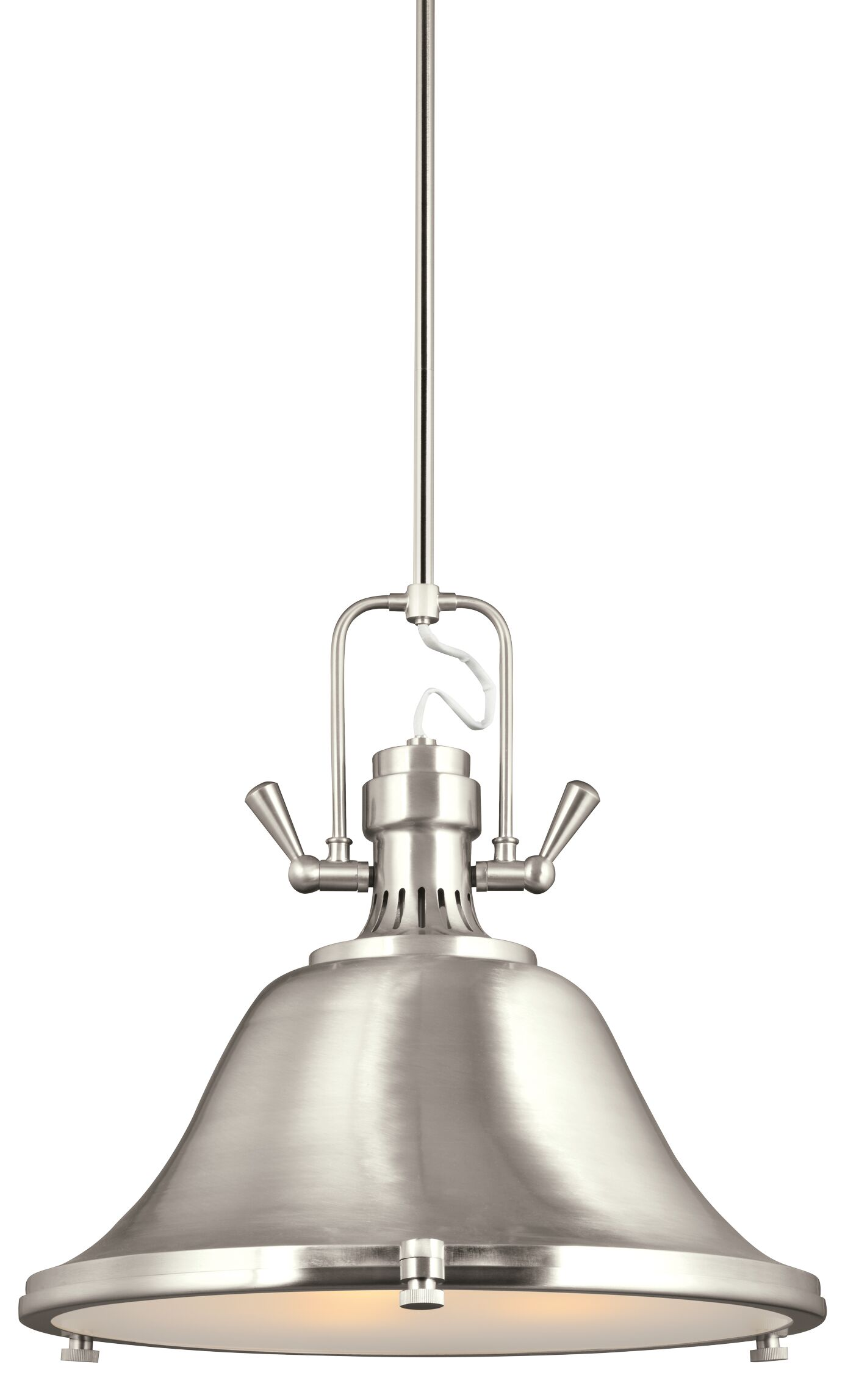 Chiaramonte 3-Light Cone Pendant Finish: Brushed Nickel