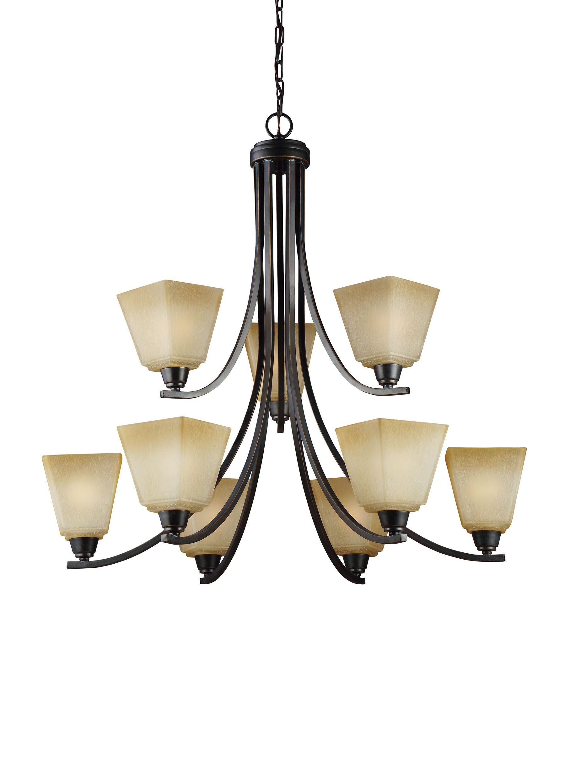 Varian 9-Light Shaded Chandelier Finish / Shade Finish: Brushed Nickel / White