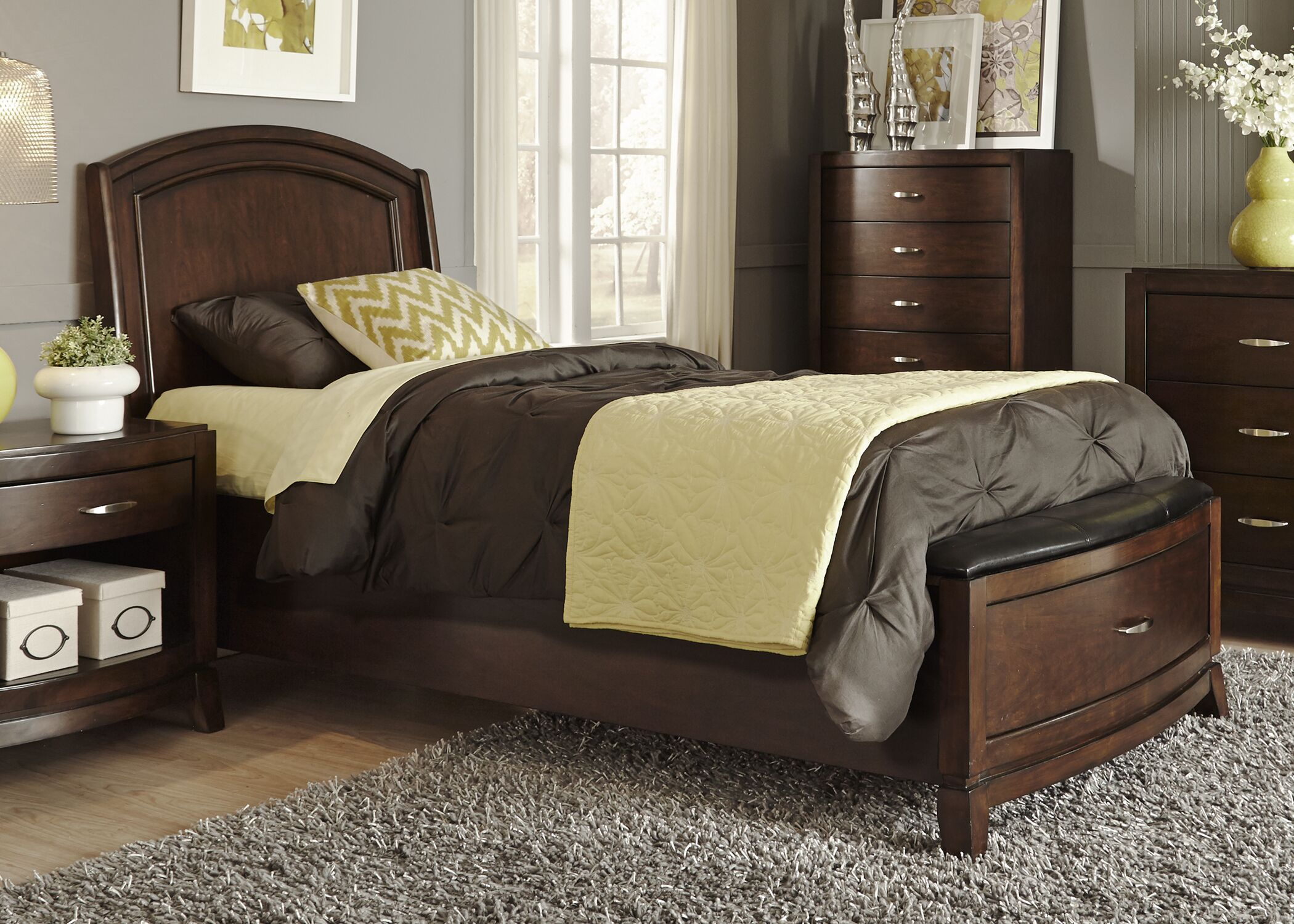 Loveryk Storage Panel Bed