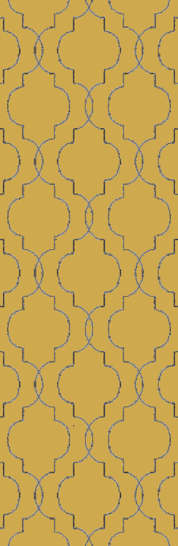 Packard Hand Woven Wool Gold/Gray Area Rug Rug Size: Runner 2'6