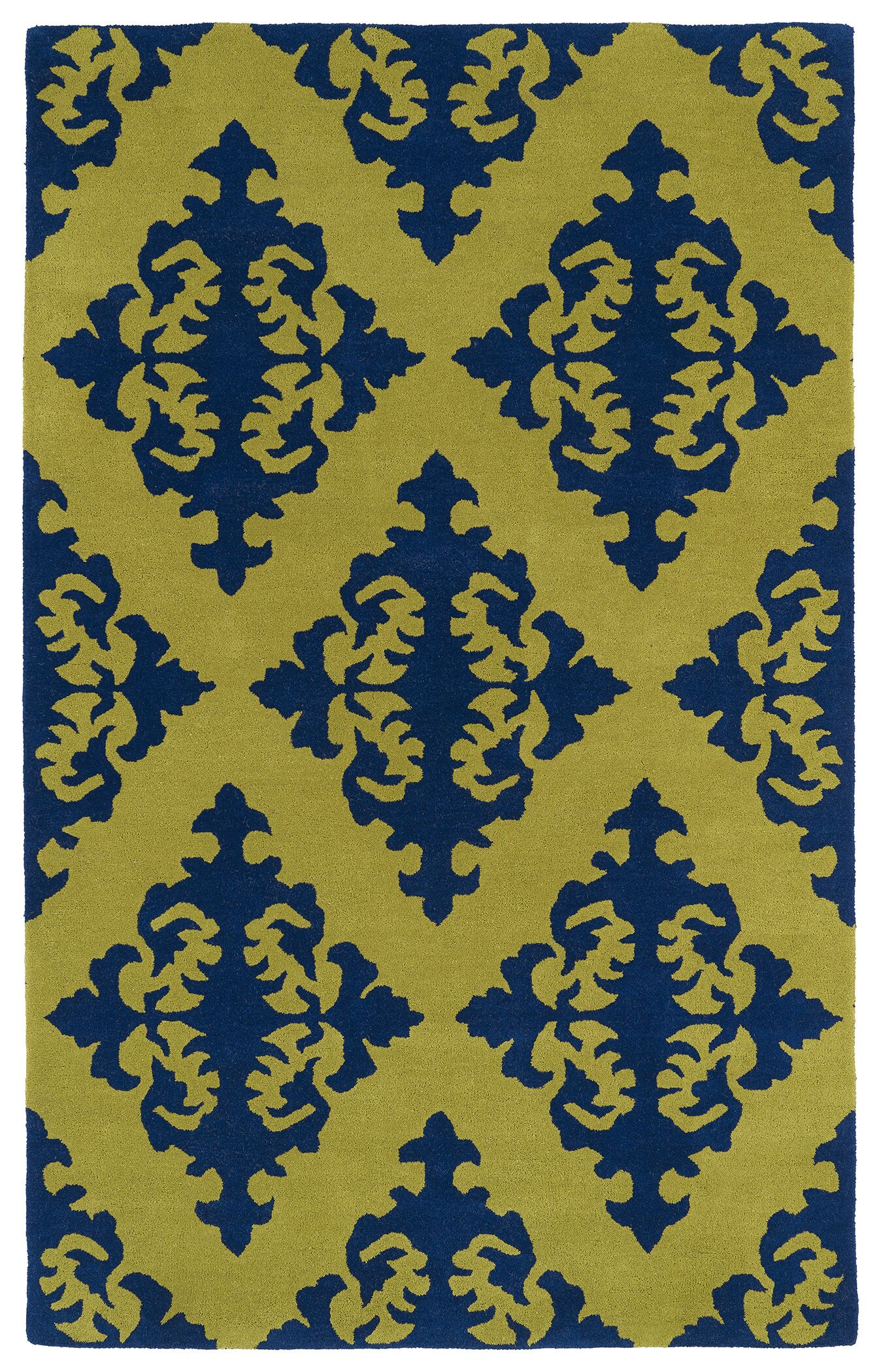 Slovan Wasabi Yellow/Blue Area Rug Rug Size: Rectangle 8' x 11'