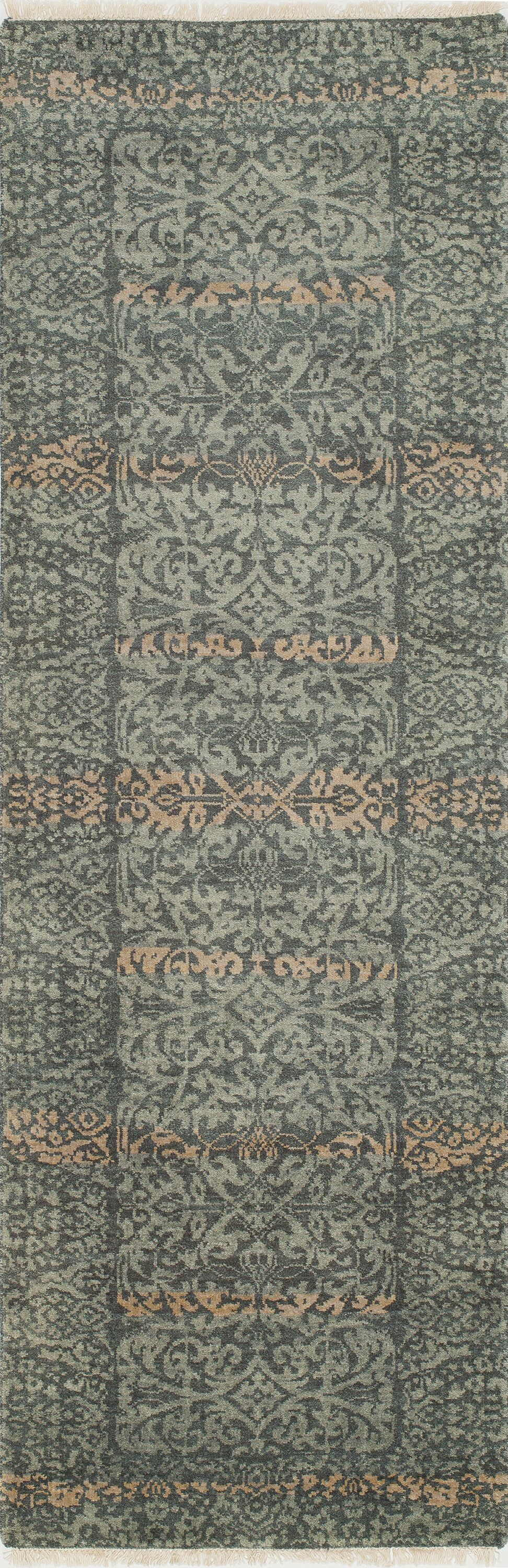 Landreneau Hand-Knotted Blue Knotted Rug Rug Size: Rectangle 2' x 3'