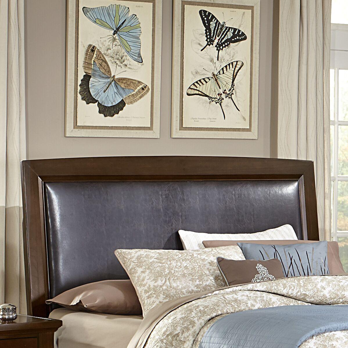Bertram Upholstered Panel Headboard Color: Merlot, Size: Full