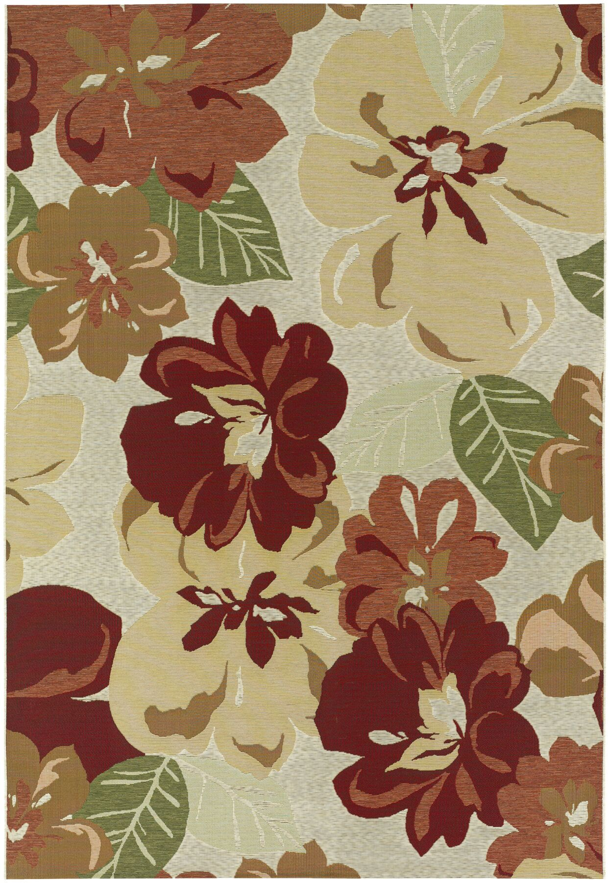 Dimmick Rose Bud Indoor/Outdoor Area Rug Rug Size: 5'3