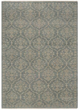 Harwich Floral Arabesque Hand-Knotted Sage Green Area Rug Rug Size: Rectangle 8' x 11'3