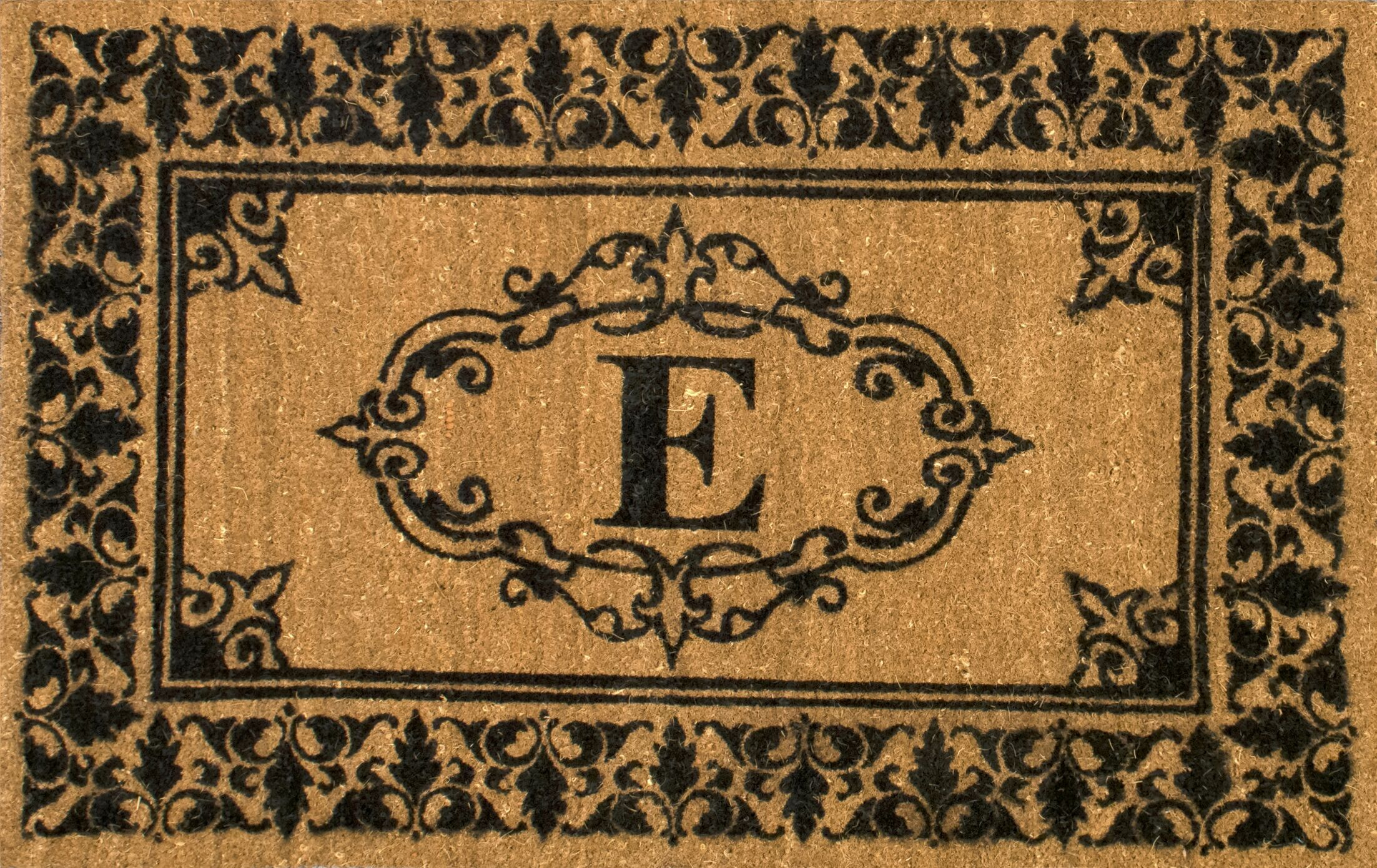 Secrist Letter Doormat Mat Size: 3' x 6', Letter: E