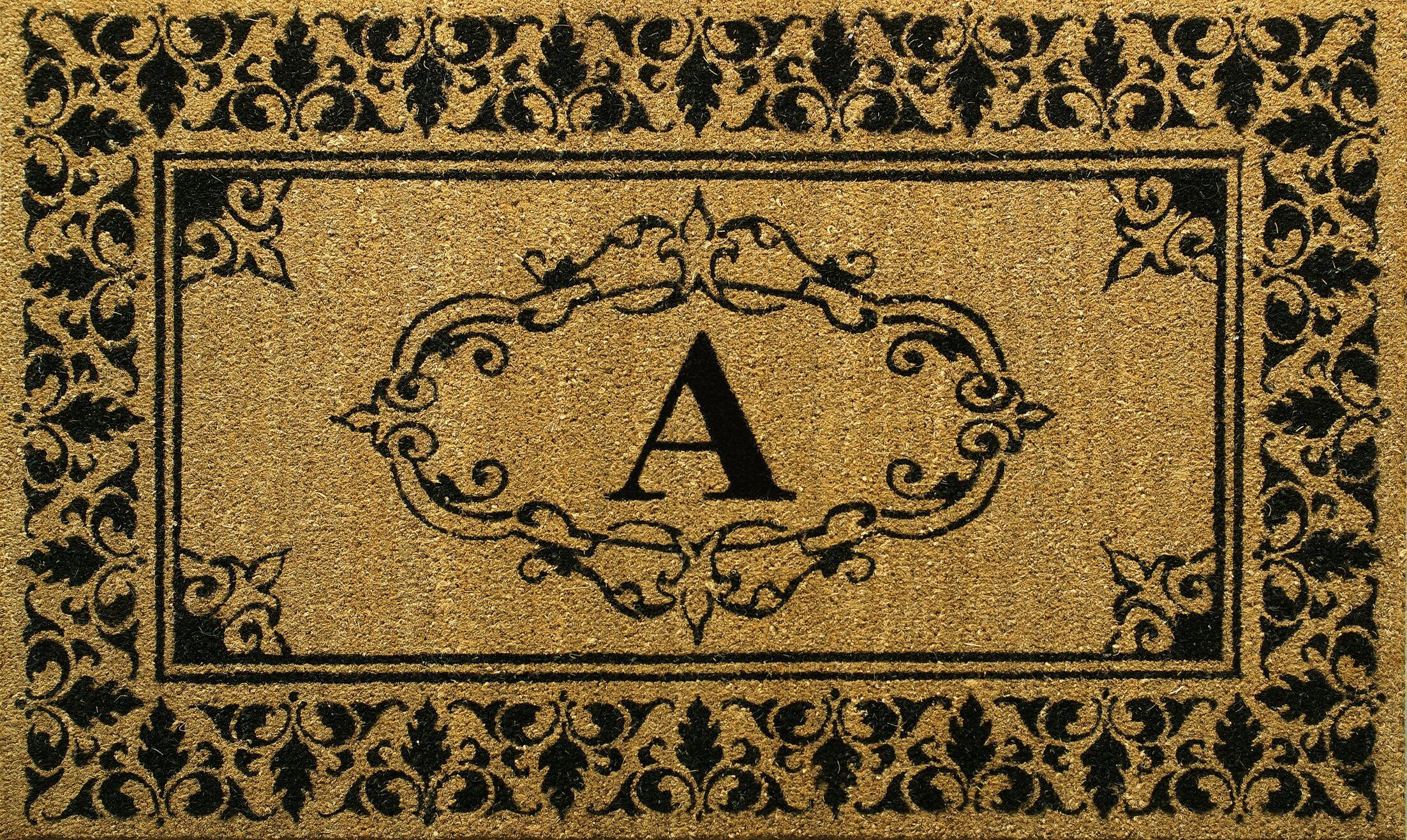 Secrist Letter Doormat Letter: A, Mat Size: 3' x 6'