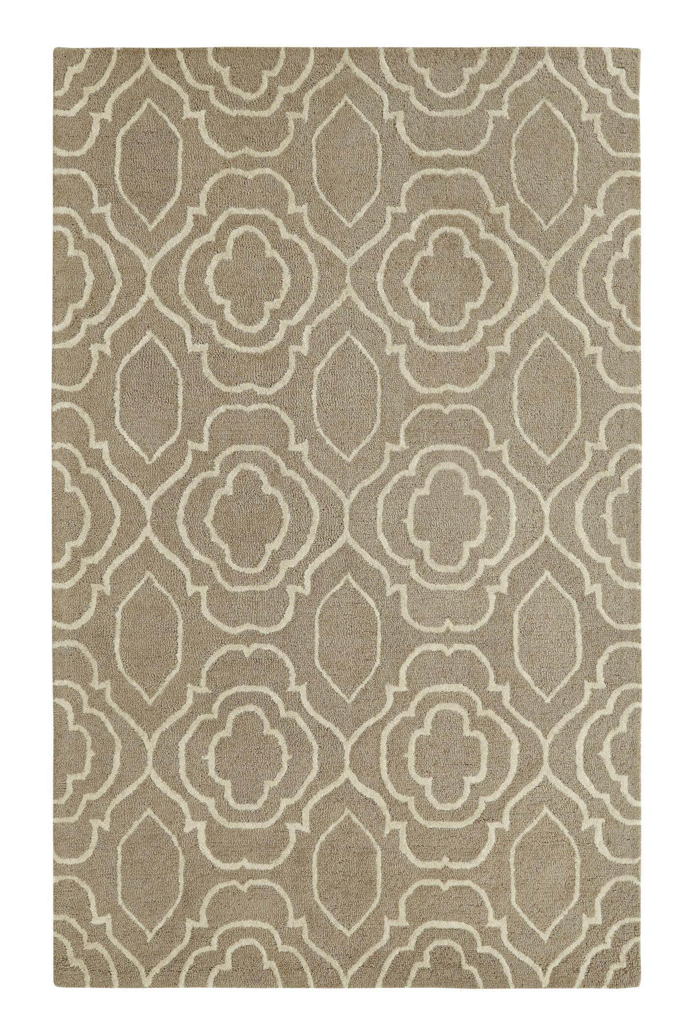 Frederica Silver/Ivory Area Rug Rug Size: Rectangle 8' x 11'