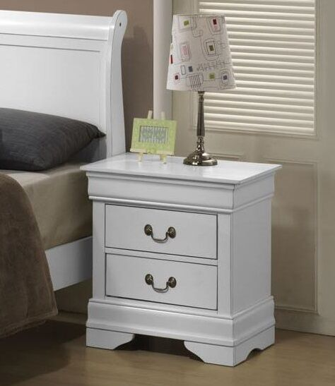 Guffey 2 Drawer Wood Veneer Nightstand