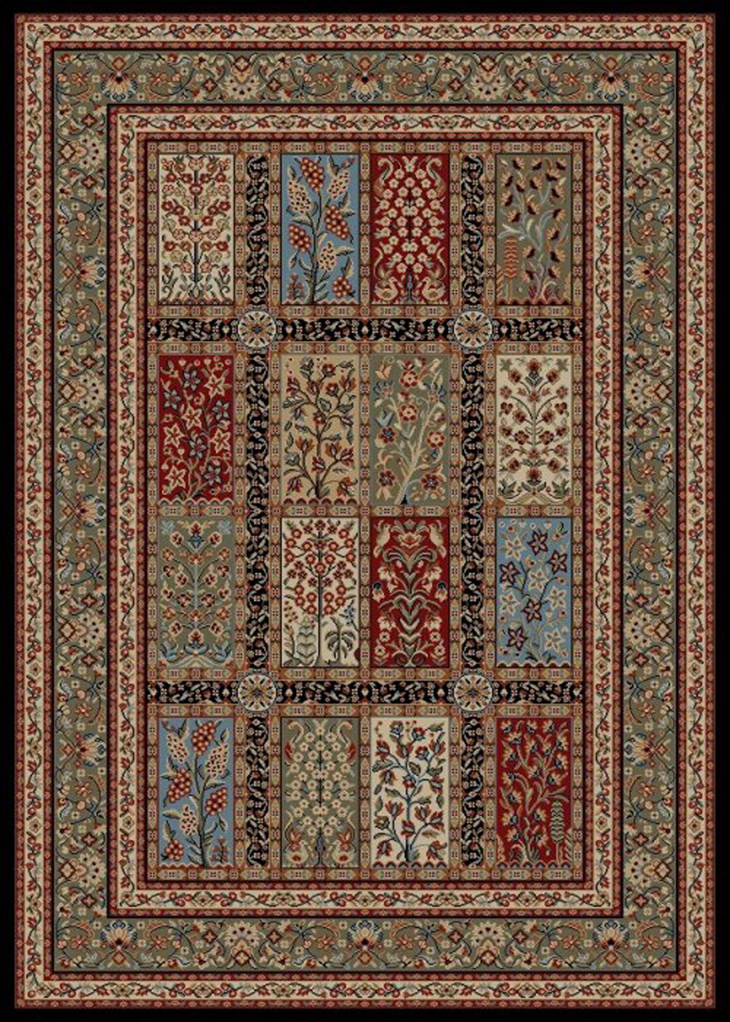 Bluffridge Red/Beige Area Rug Rug Size: 5' x 8'