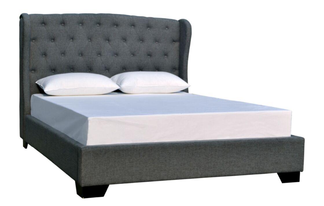 Meibel Upholstered Platform Bed Size: King, Color: Slate