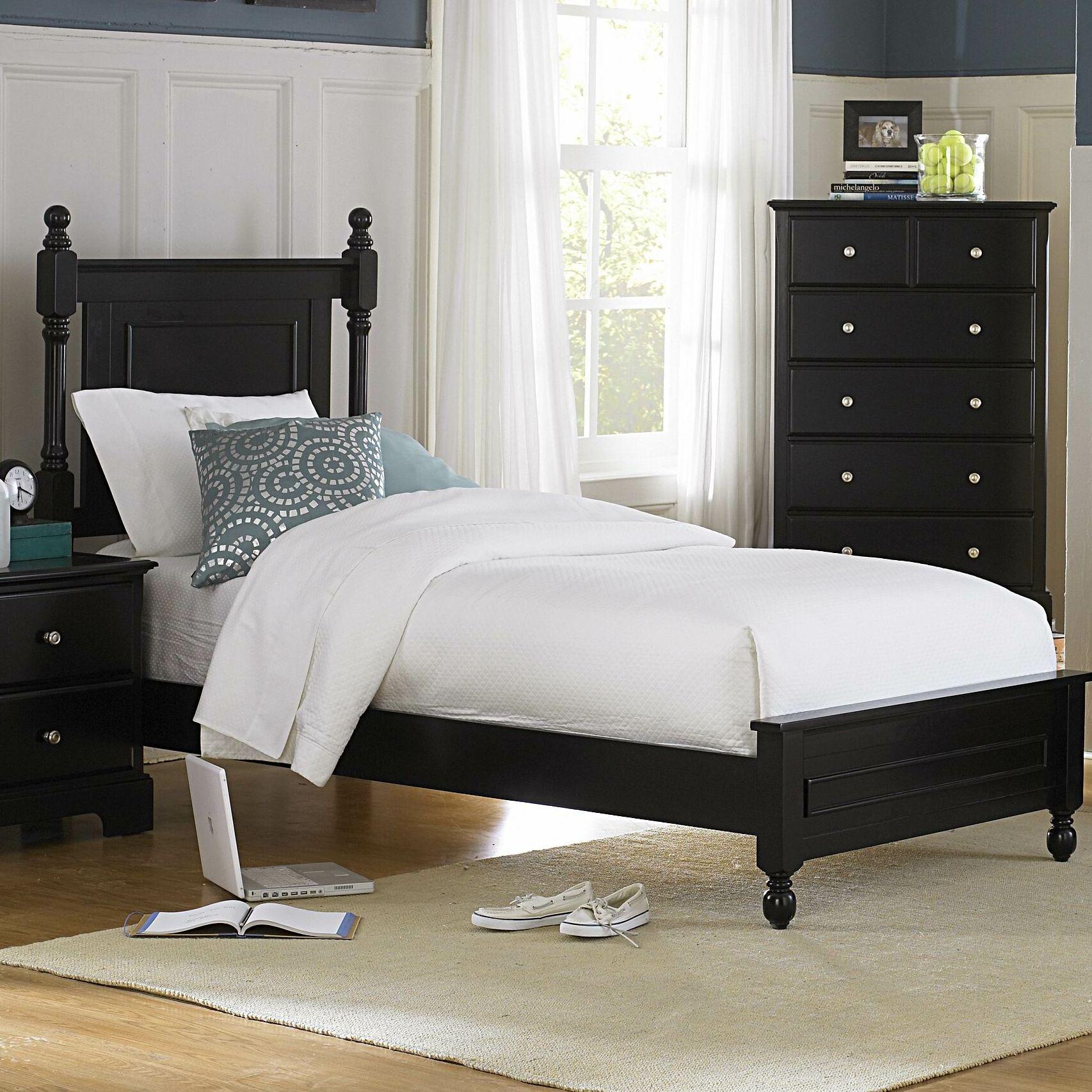 Rotonda Panel Bed Color: Black, Size: King