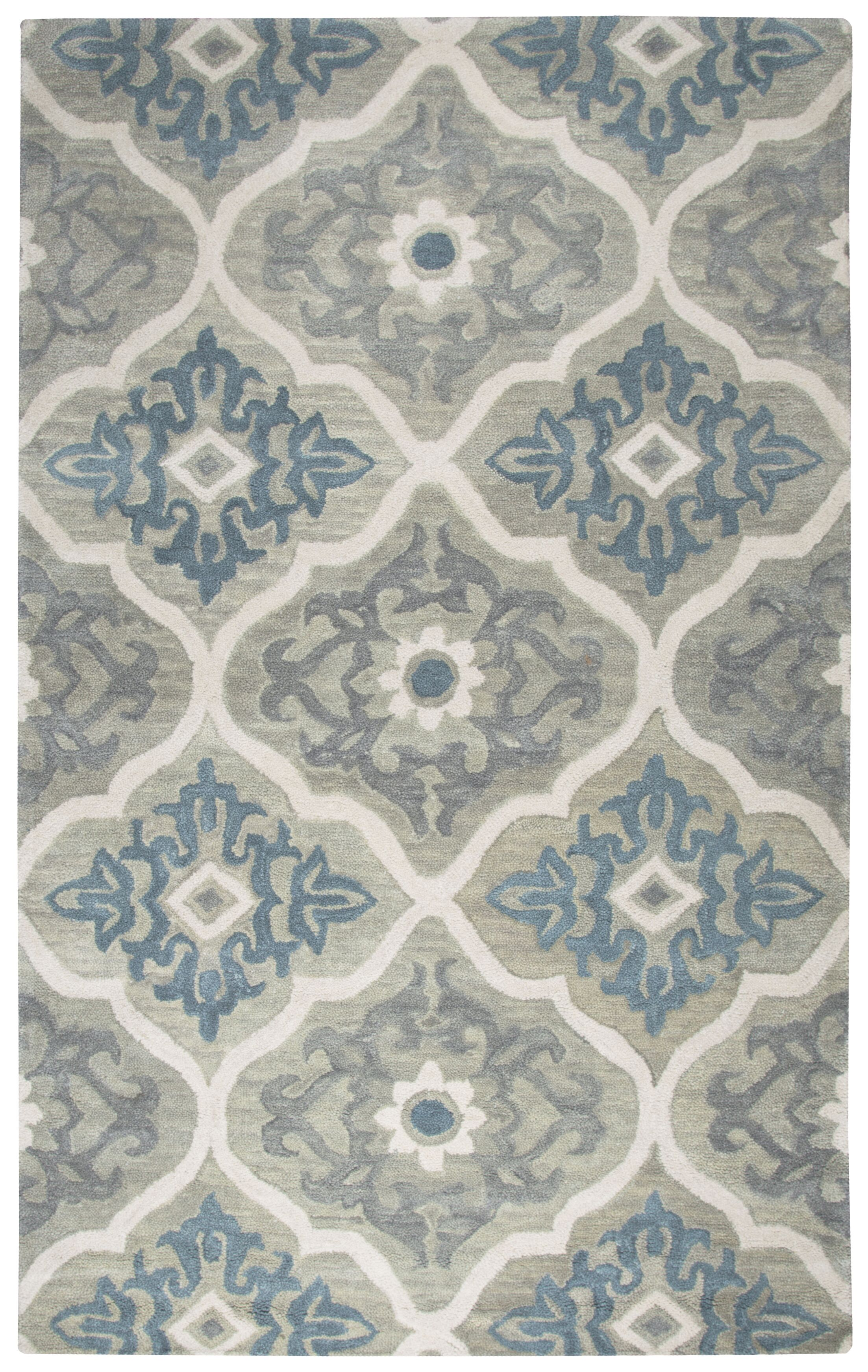 Venedy Hand-Tufted Wool Blue/Gray Area Rug Size: Rectangle 8' x 10'