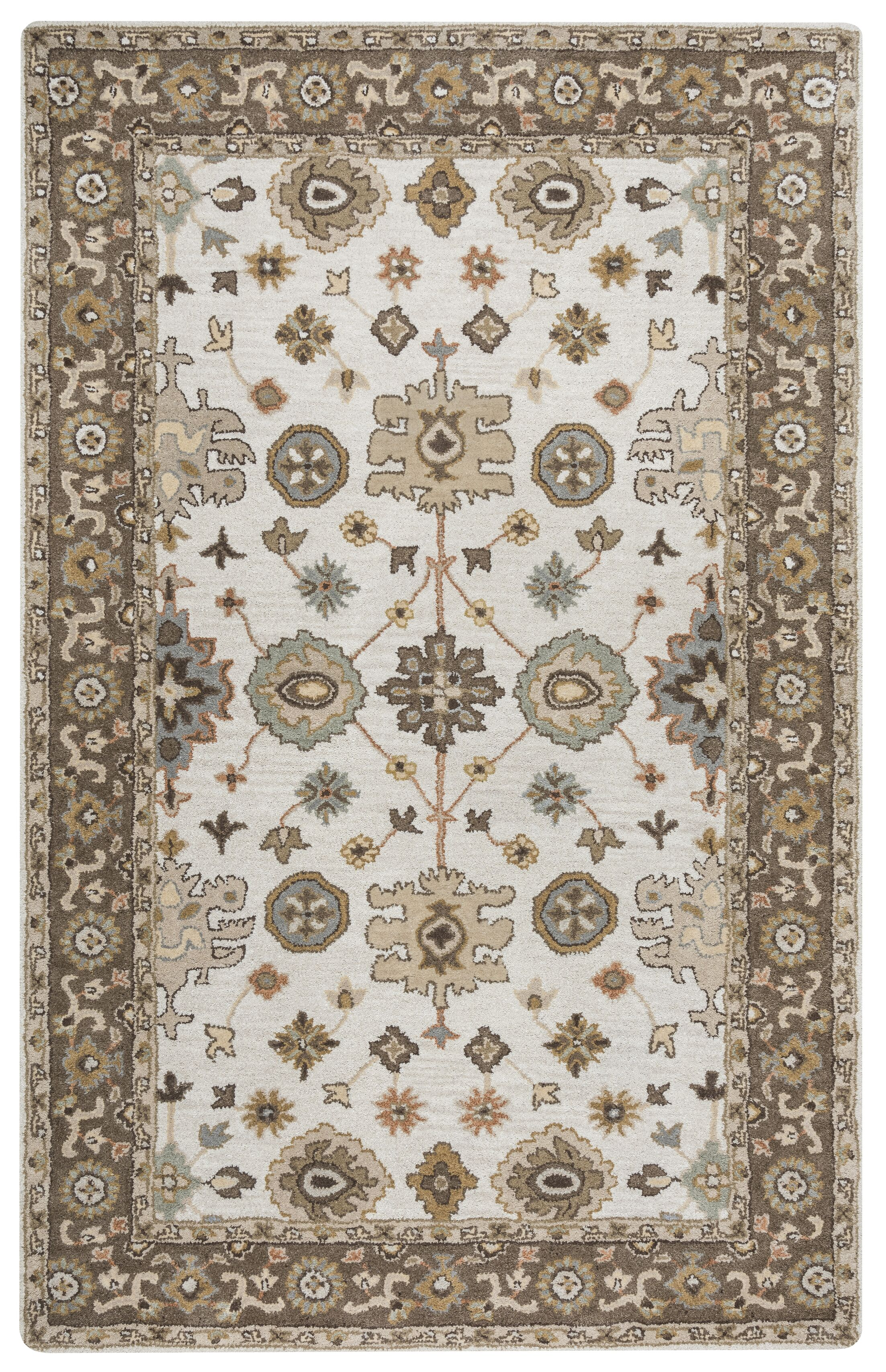 Lamothe Hand-Tufted Wool Brown Area Rug Rug Size: Rectangle 9' x 12'