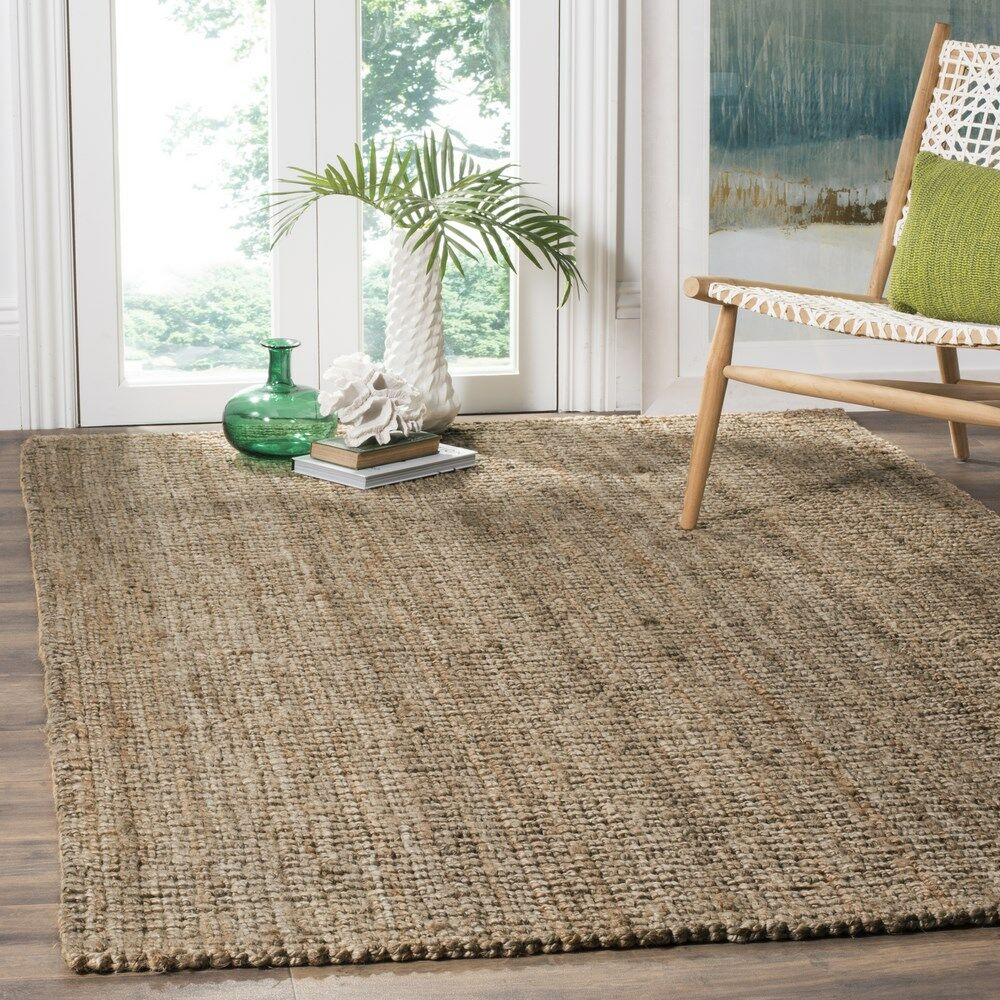 Nilles Hand-Woven Natural/Grey Area Rug Rug Size: Square 8'