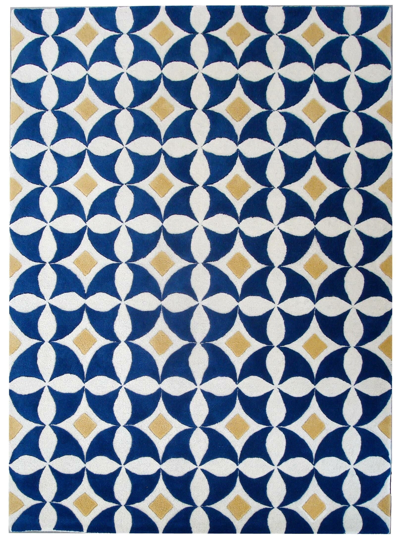 Bayswater Ivory /Blue Area Rug Rug Size: Rectangle 5' x 8'