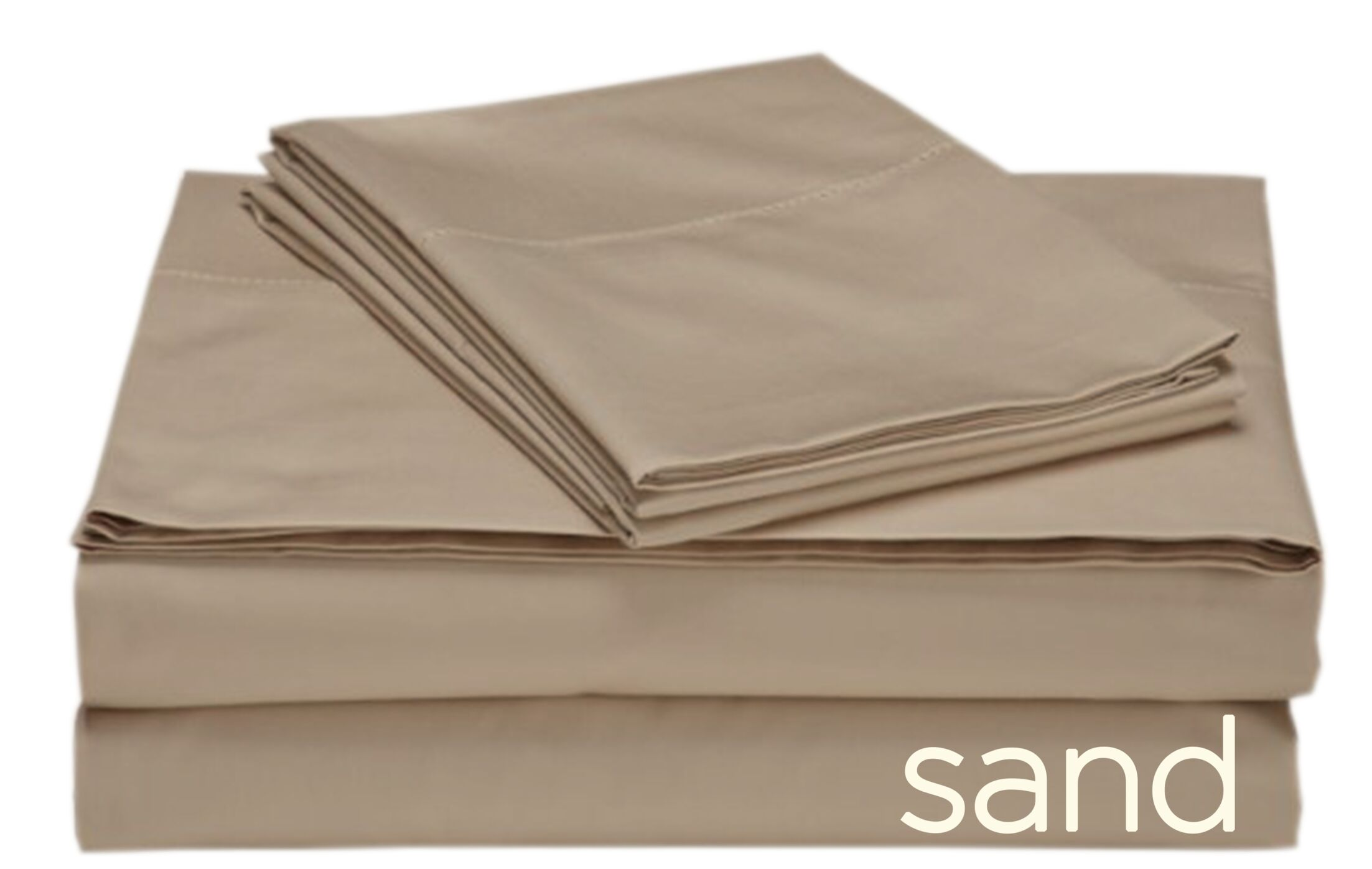 Valerie 618 Thread Count 100% Cotton Sheet Set Color: Sand, Size: King
