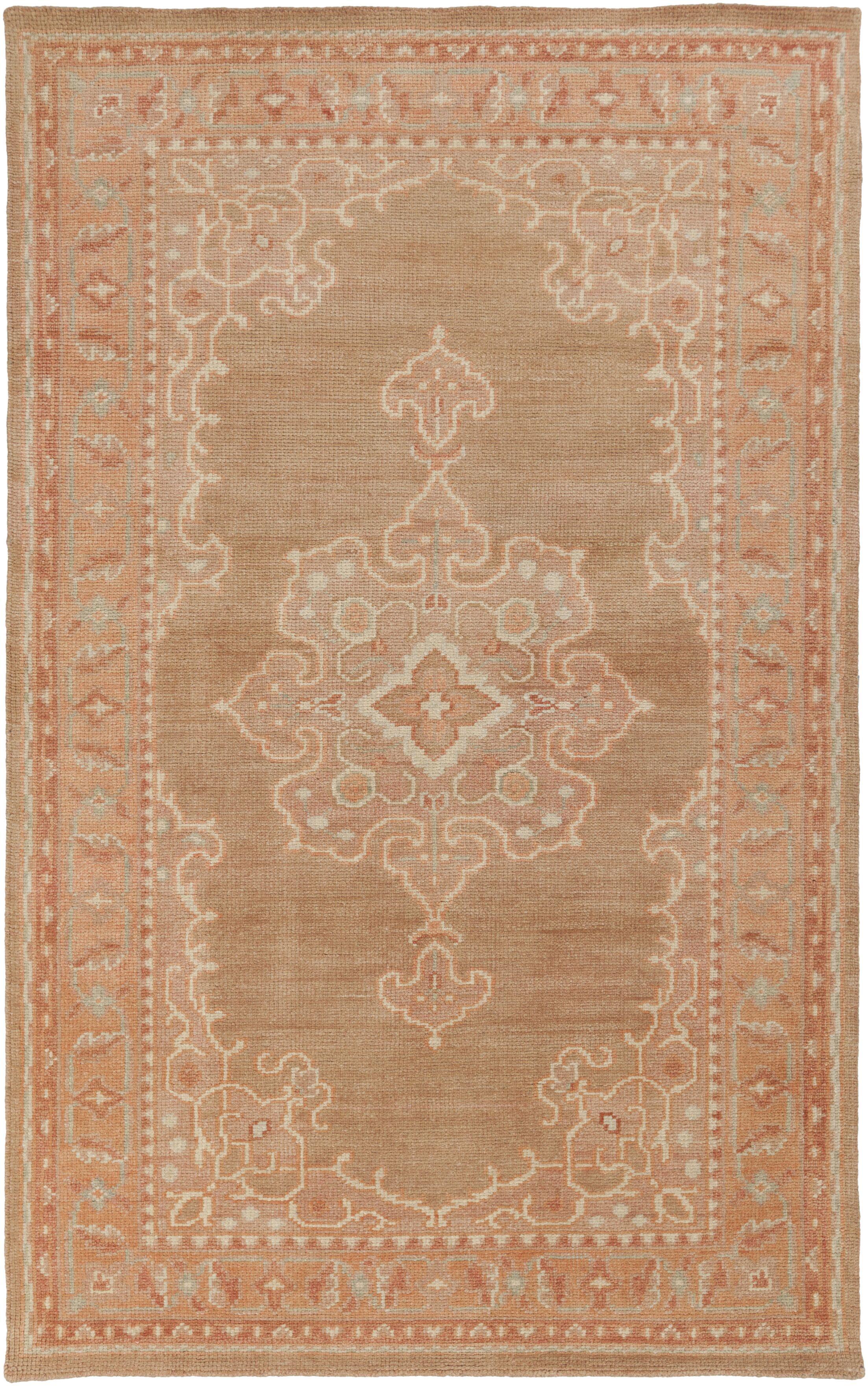 Orrville Mocha Oriental Area Rug Rug Size: Rectangle 5'6