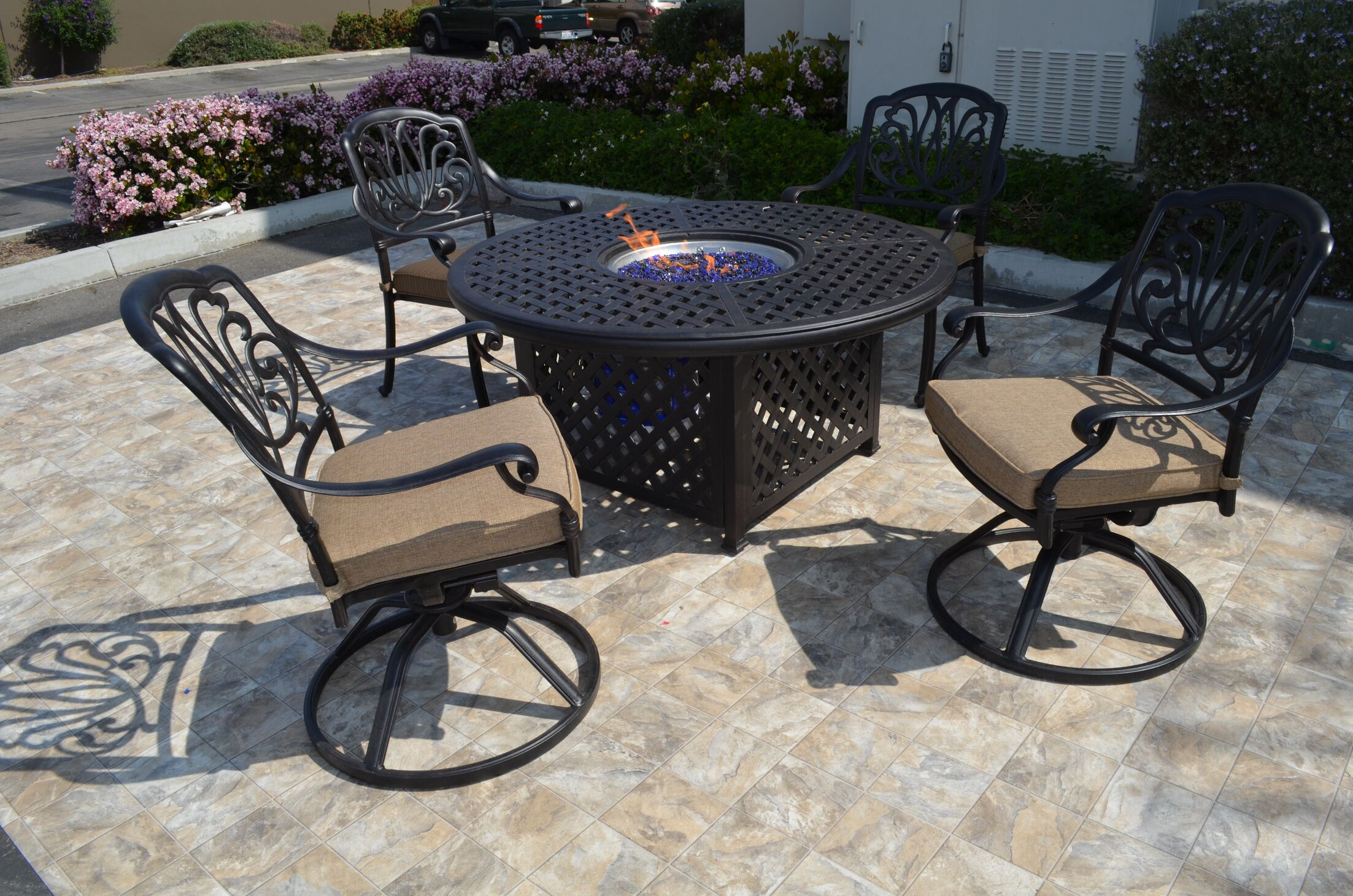 Kristy 5 Piece Conversation Set with Cushions