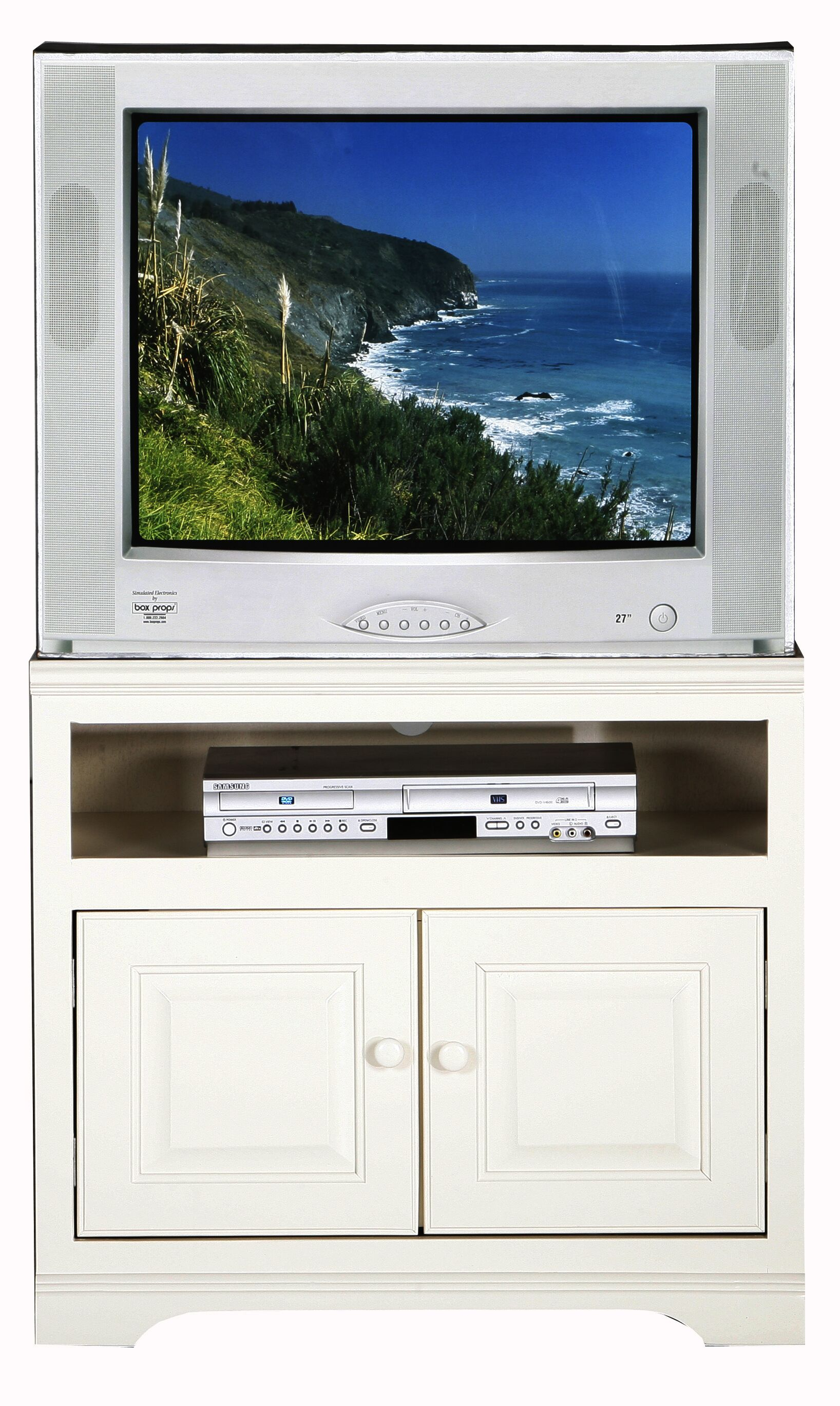 Verna TV Stand Color: White, Width of TV Stand: 27