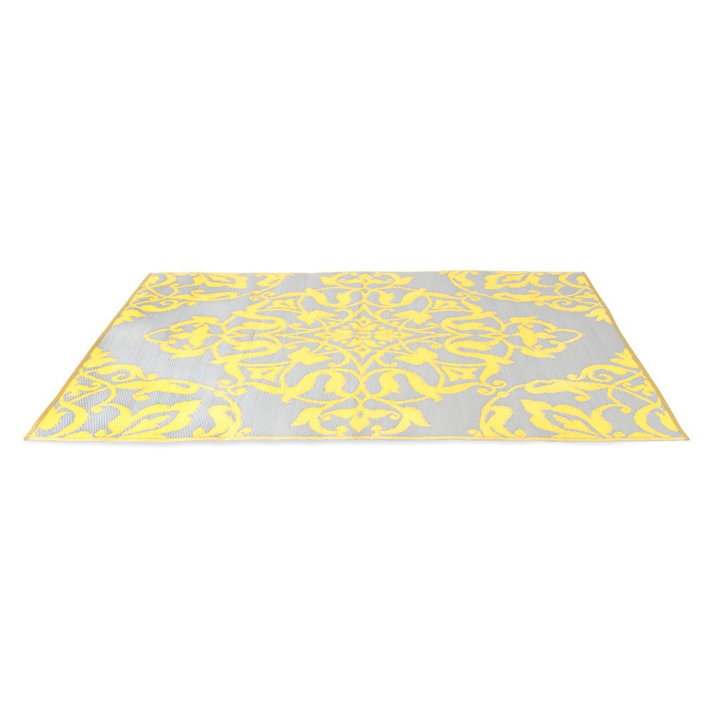Tammie Reversible Indoor/Outdoor Doormat Mat Size: Rectangle 6' x 9', Color: Soft Gold/Cool Silver