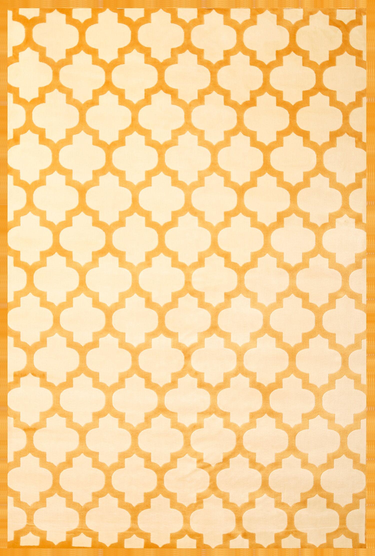 Beecroft Tangerine/Ivory Area Rug Rug Size: 5'3