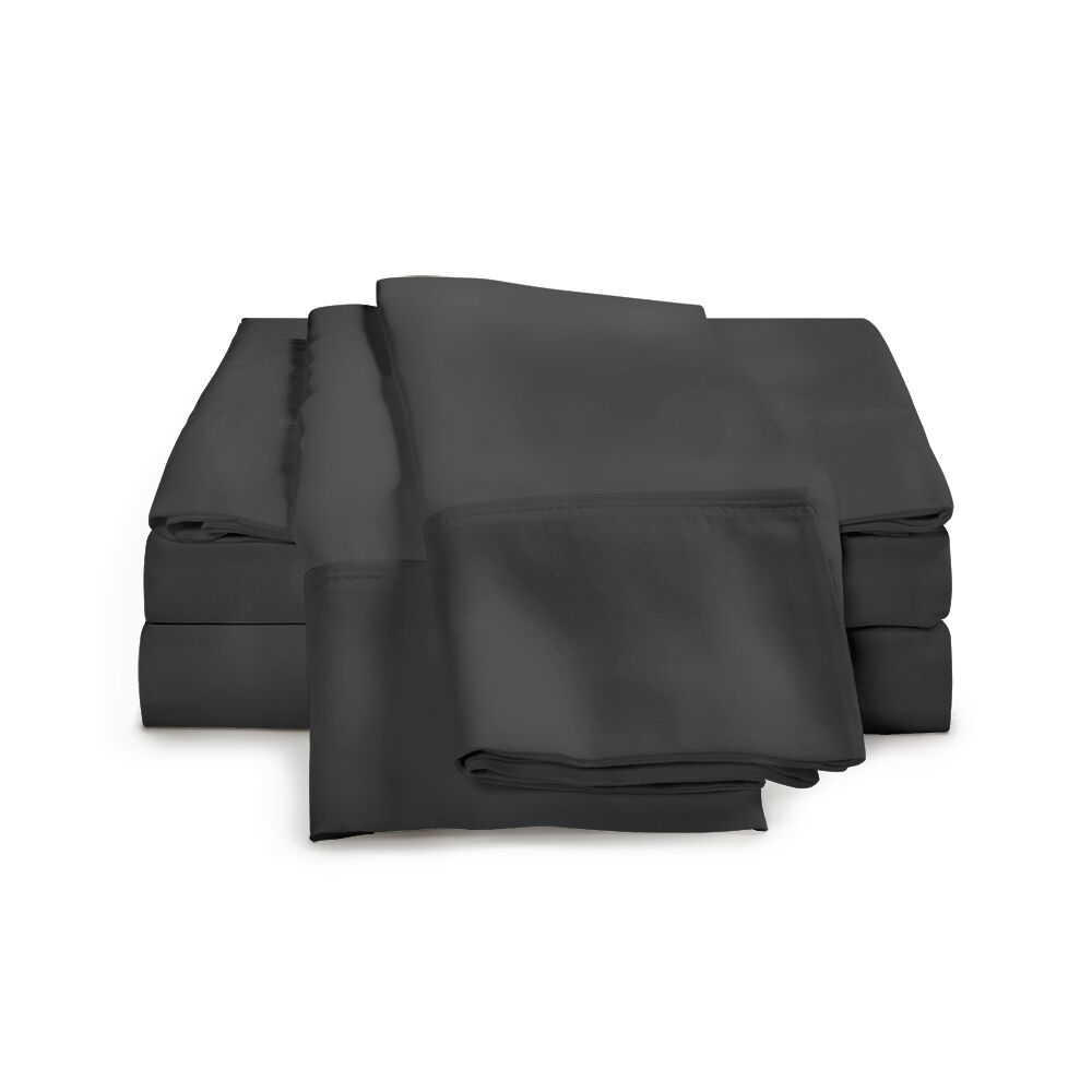 Estela 1200 Thread Count Egyptian-Quality Cotton Sheet Set Color: Charcoal, Size: King