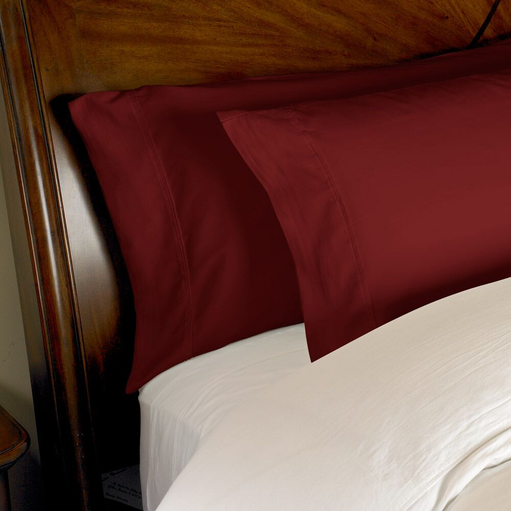 Estela 1200 Thread Count Egyptian-Quality Cotton Sheet Set Color: Burgundy, Size: Full