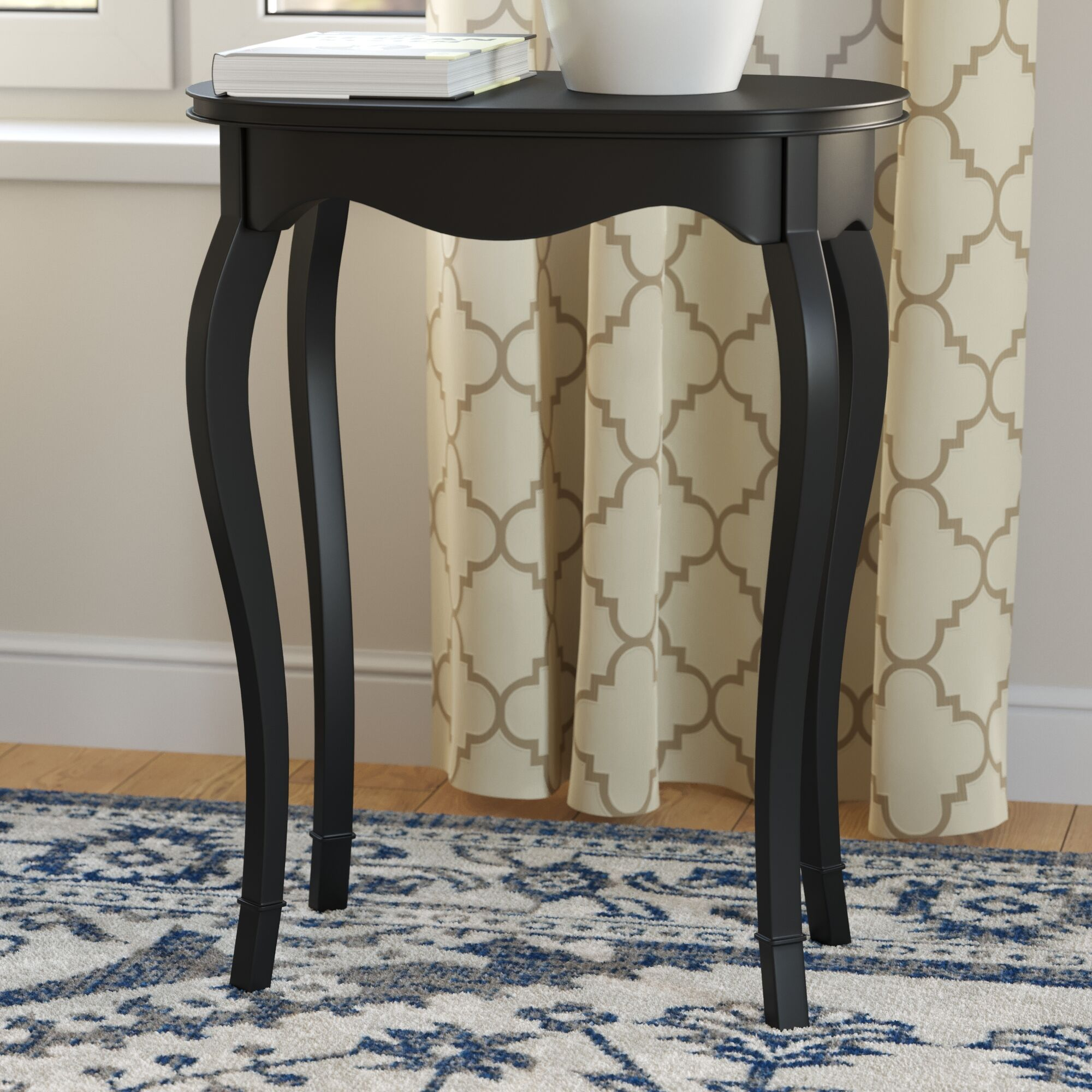 Heisler End Table Color: Black Licorice